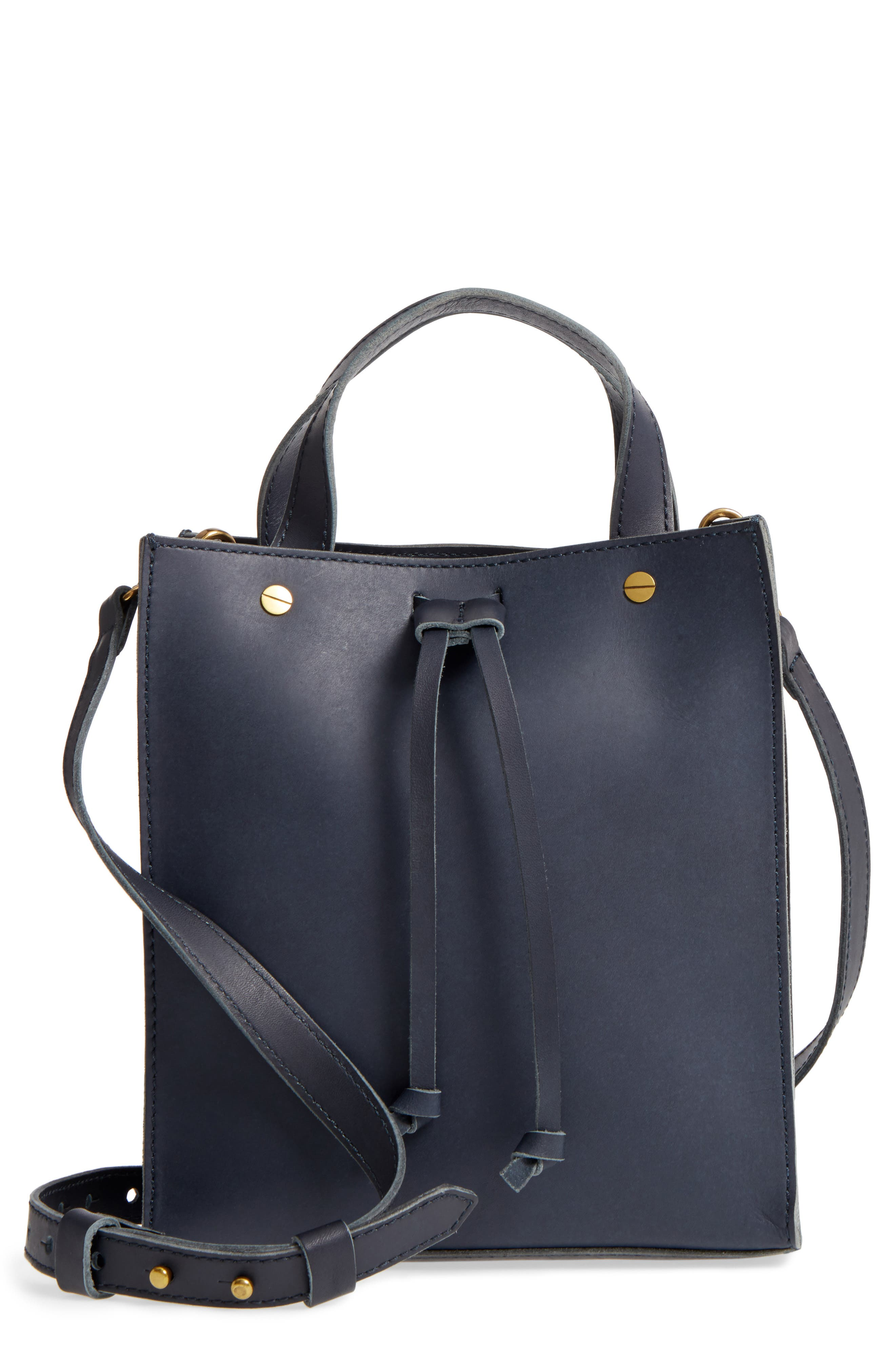 Small Trick Leather Top Handle Tote,                             Main thumbnail 2, color,