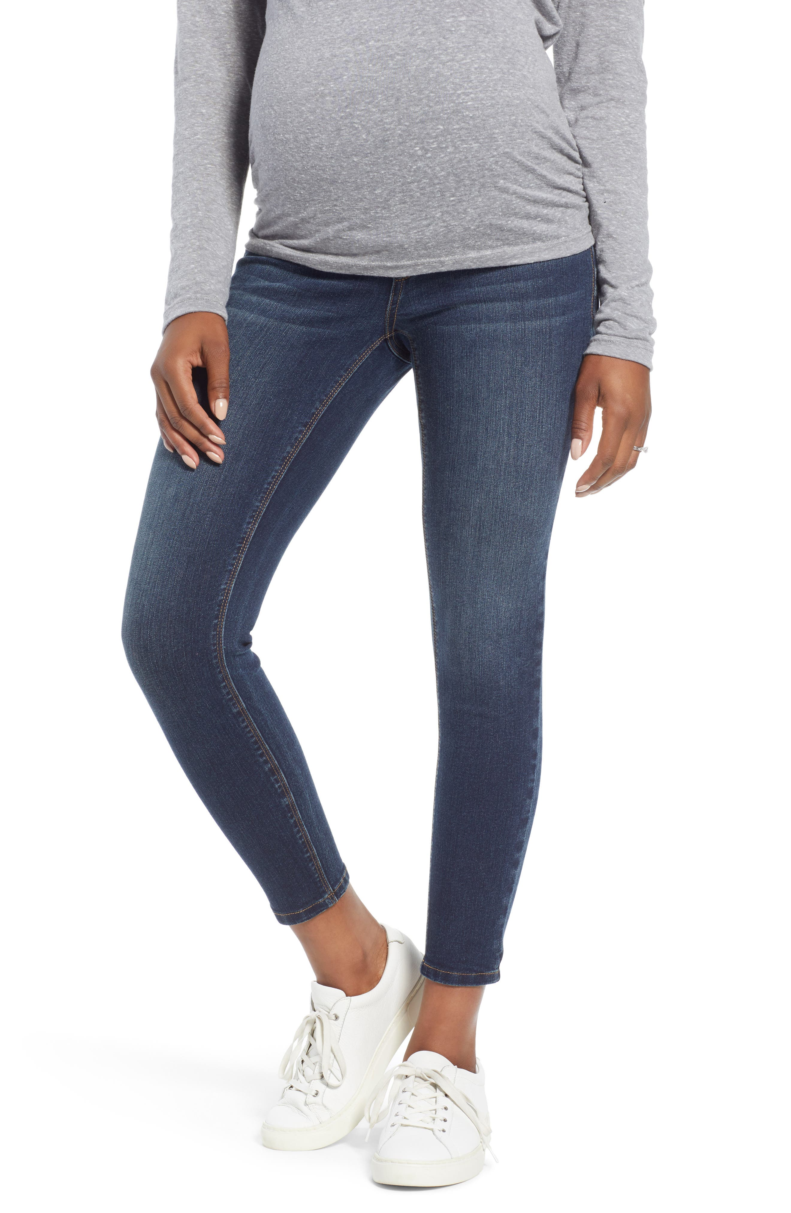 Ankle Skinny Maternity Jeans,                             Main thumbnail 1, color,                             406