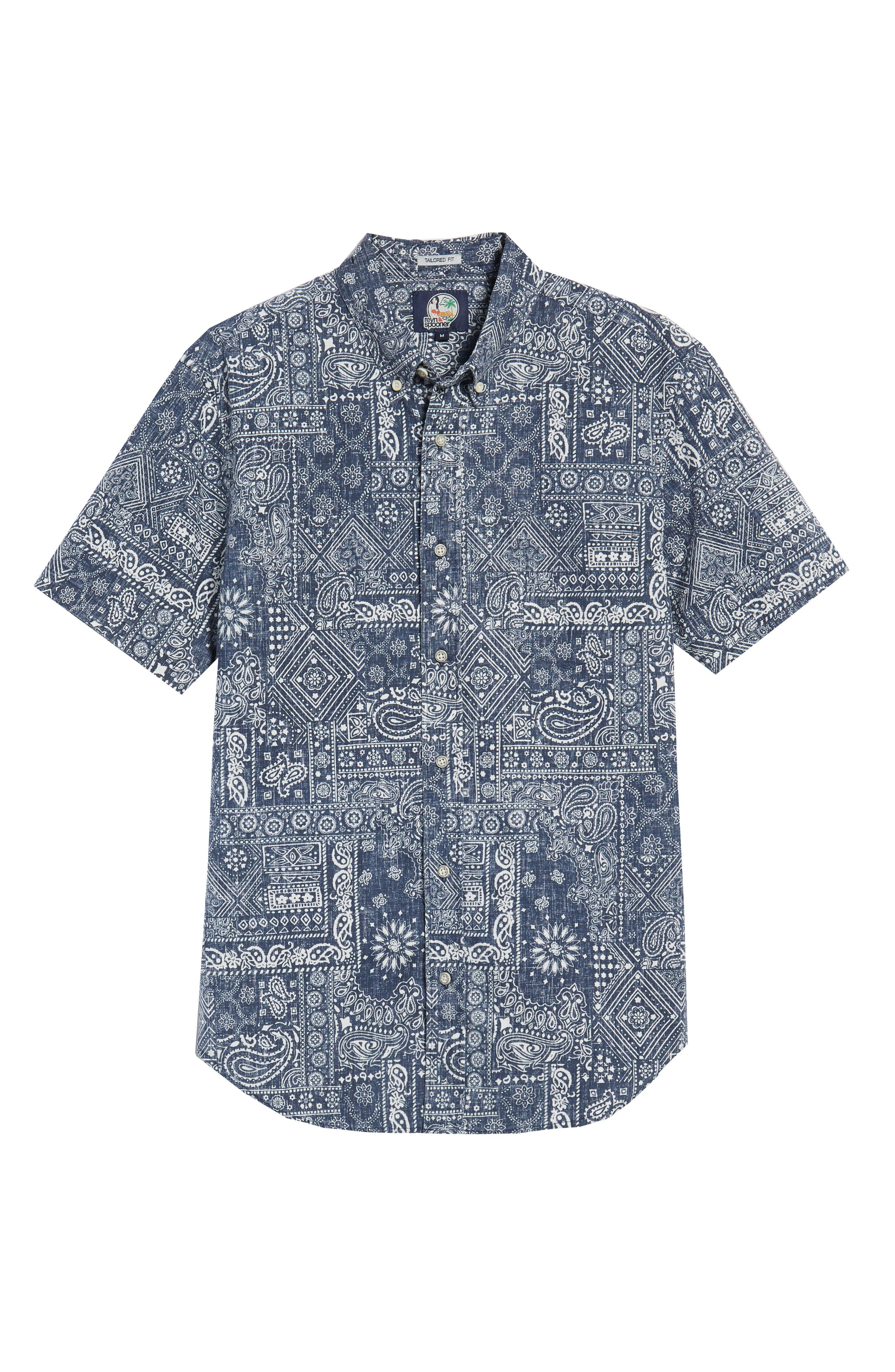 Aloha Bandana Regular Fit Sport Shirt,                             Alternate thumbnail 5, color,                             410