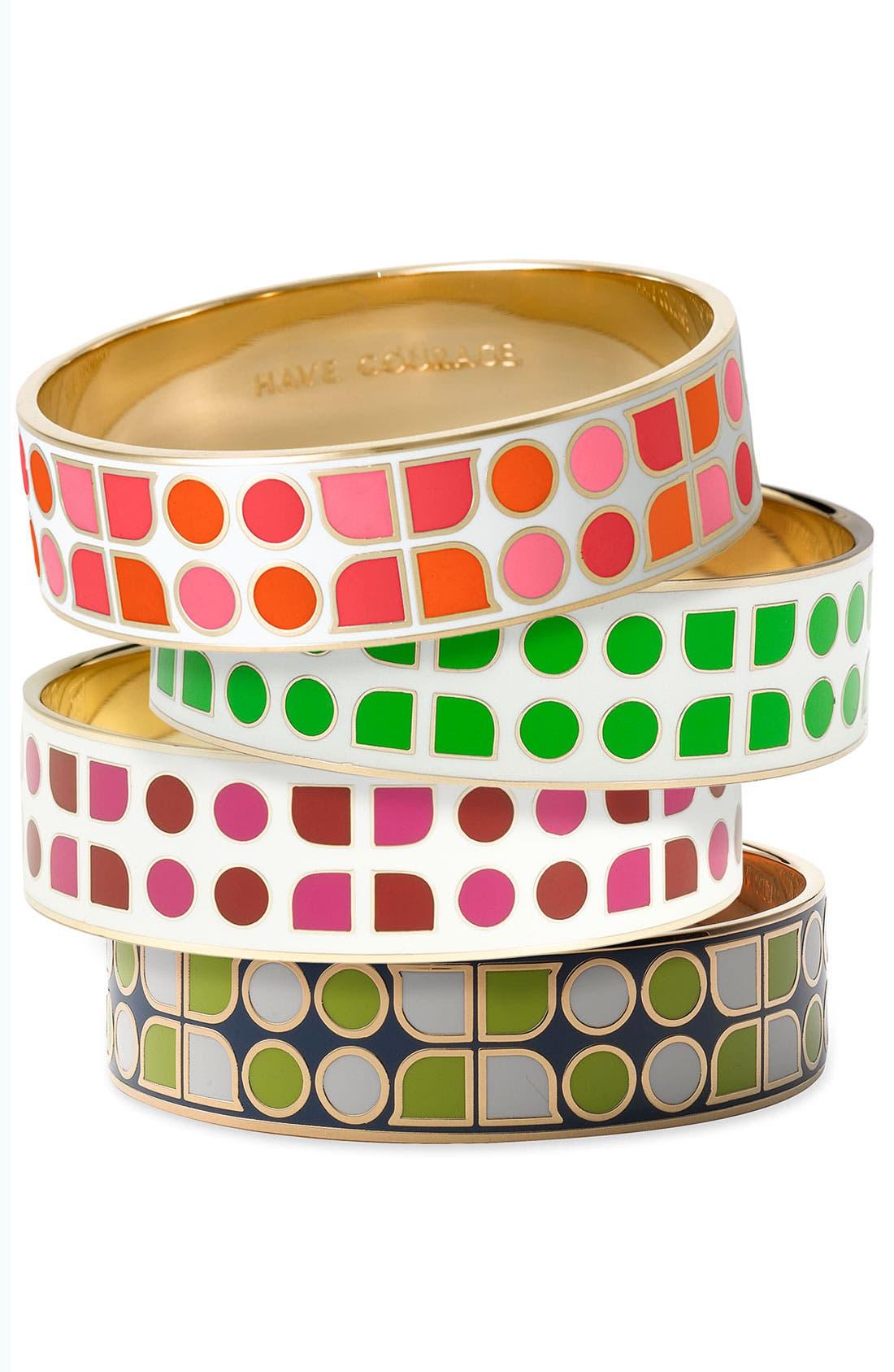 'idiom' medium enamel bangle,                         Main,                         color, 408
