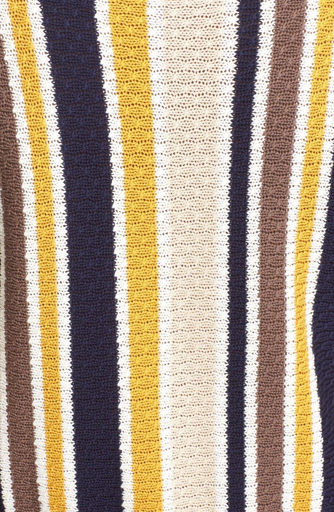 'Le Lace Up' Stripe Shirt Dress,                             Alternate thumbnail 5, color,                             120