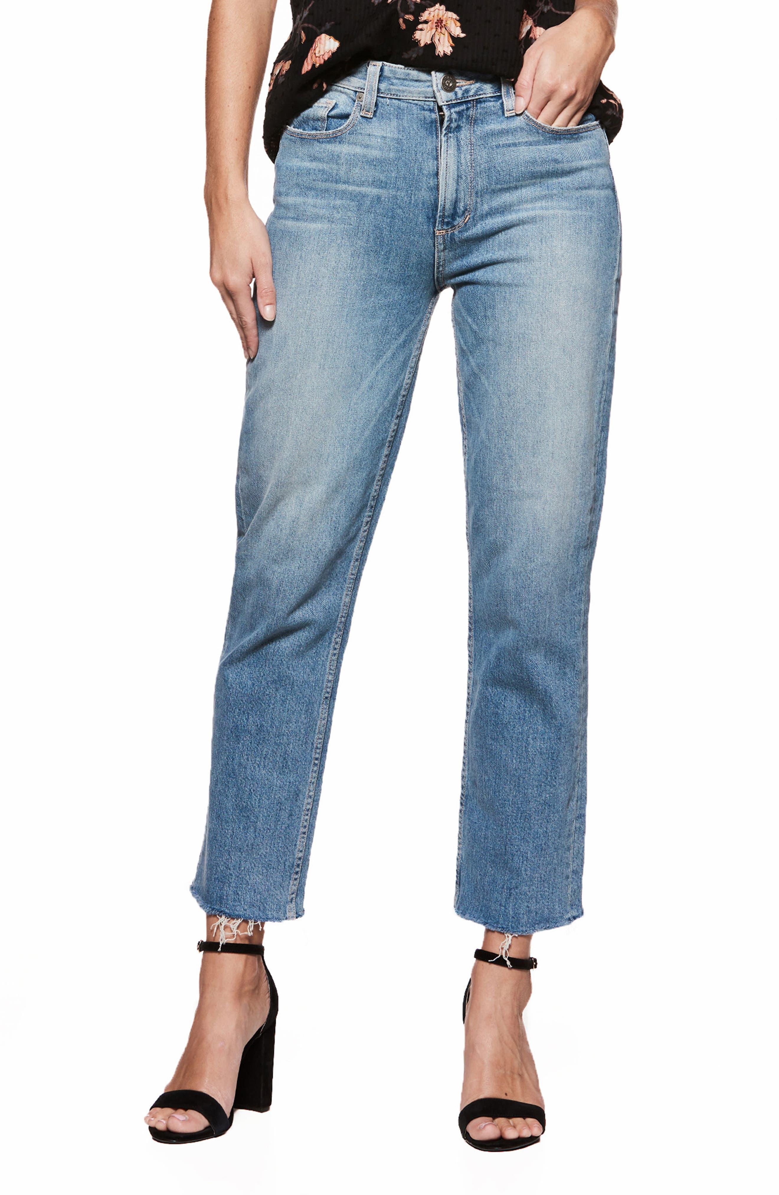 Vintage - Sarah High Waist Crop Straight Leg Jeans,                             Alternate thumbnail 9, color,                             400