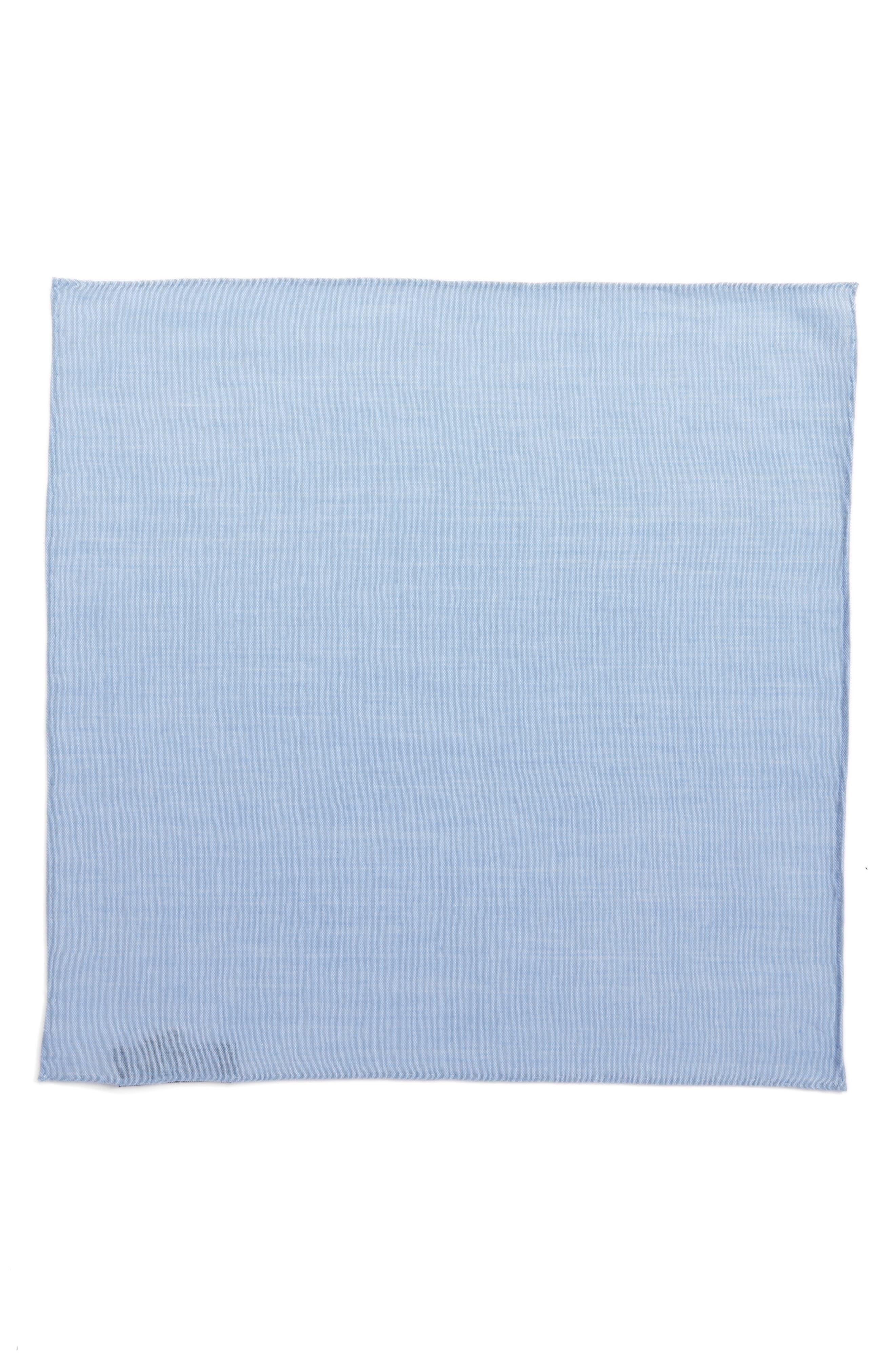 Chambray CottonPocket Square,                             Alternate thumbnail 3, color,                             455