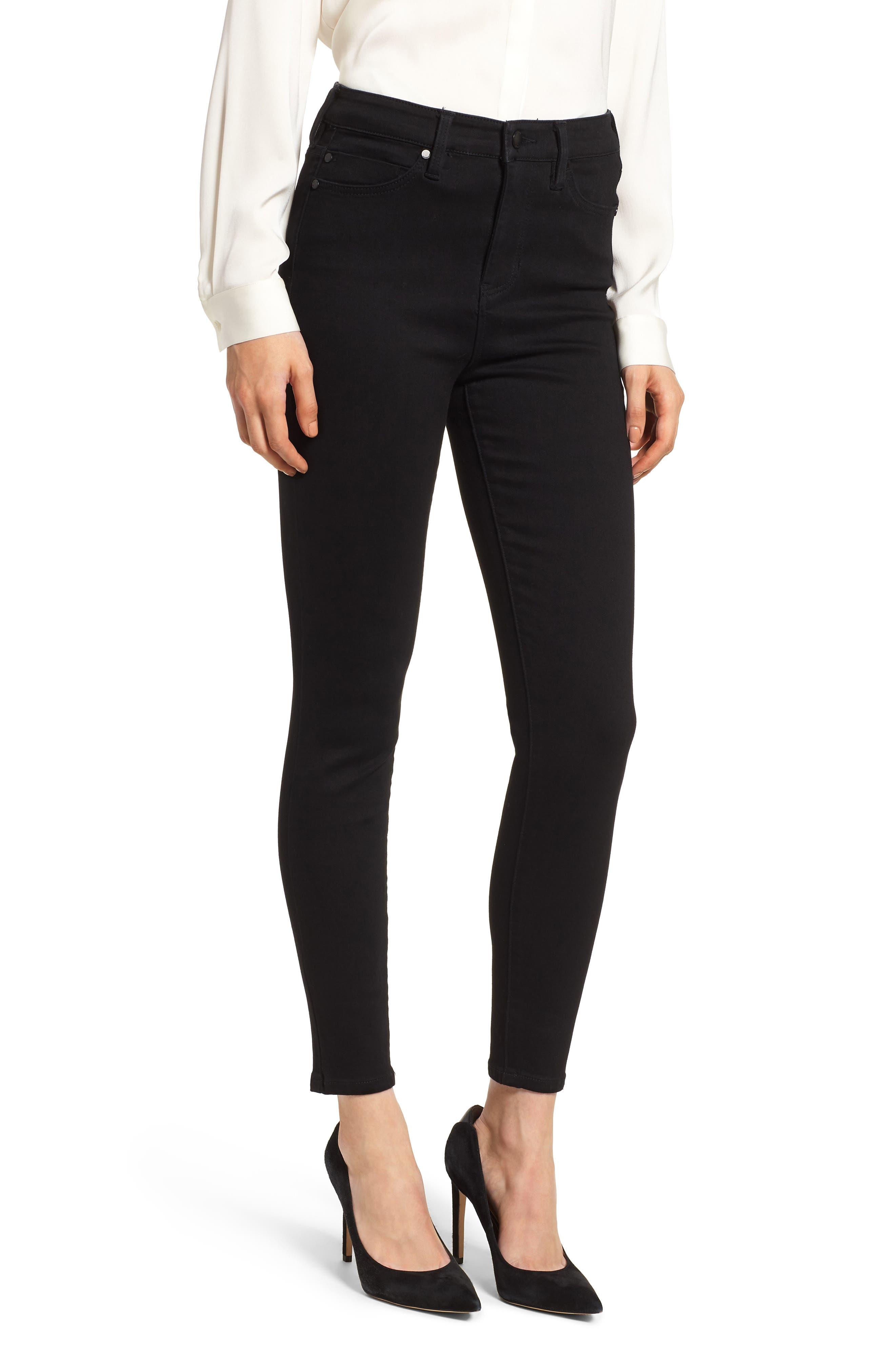 LIVERPOOL Bridget Ankle Skinny Jeans In Black Rinse