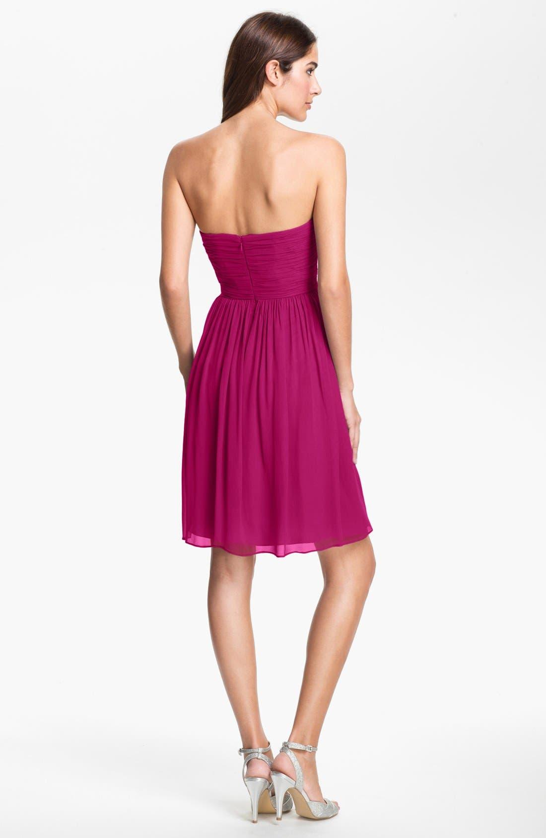 'Morgan' Strapless Silk Chiffon Dress,                             Alternate thumbnail 95, color,