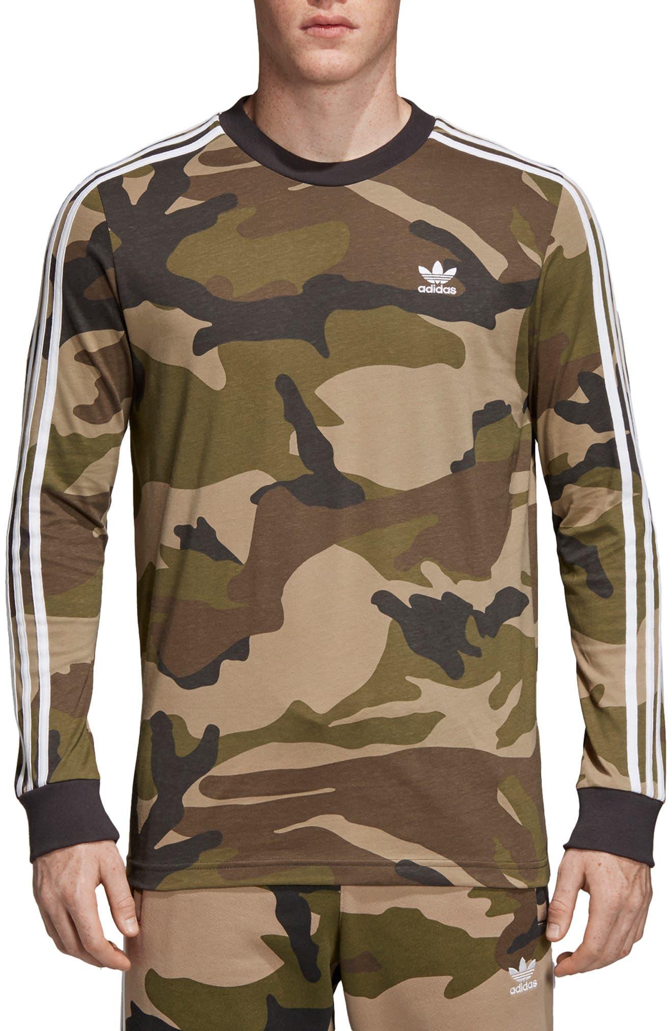 Adidas Originals Camo Long Sleeve T-Shirt, Green