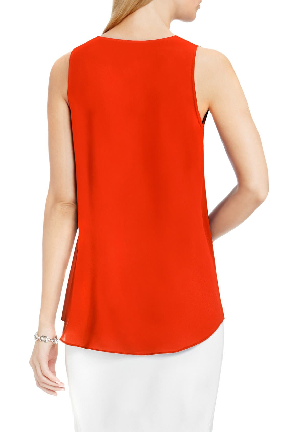 Drape Front V-Neck Sleeveless Blouse,                             Alternate thumbnail 82, color,