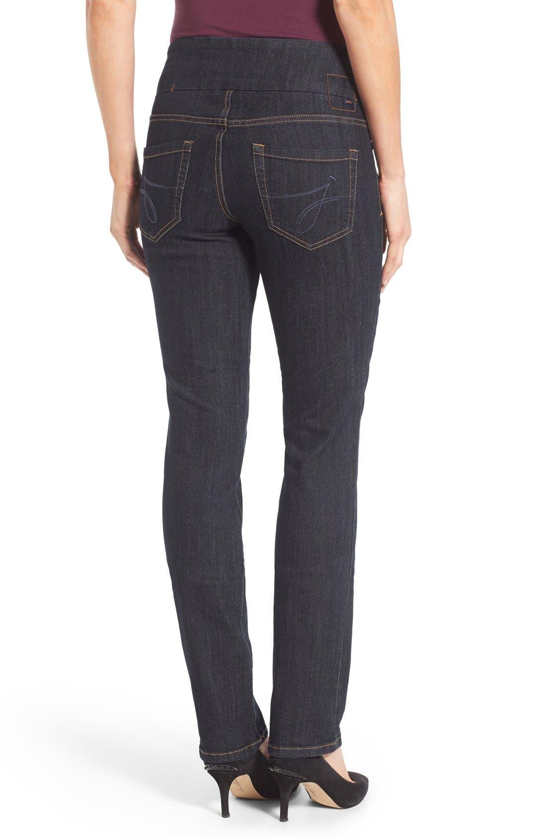 'Peri' Pull-On Stretch Straight Leg Jeans,                             Alternate thumbnail 5, color,                             402