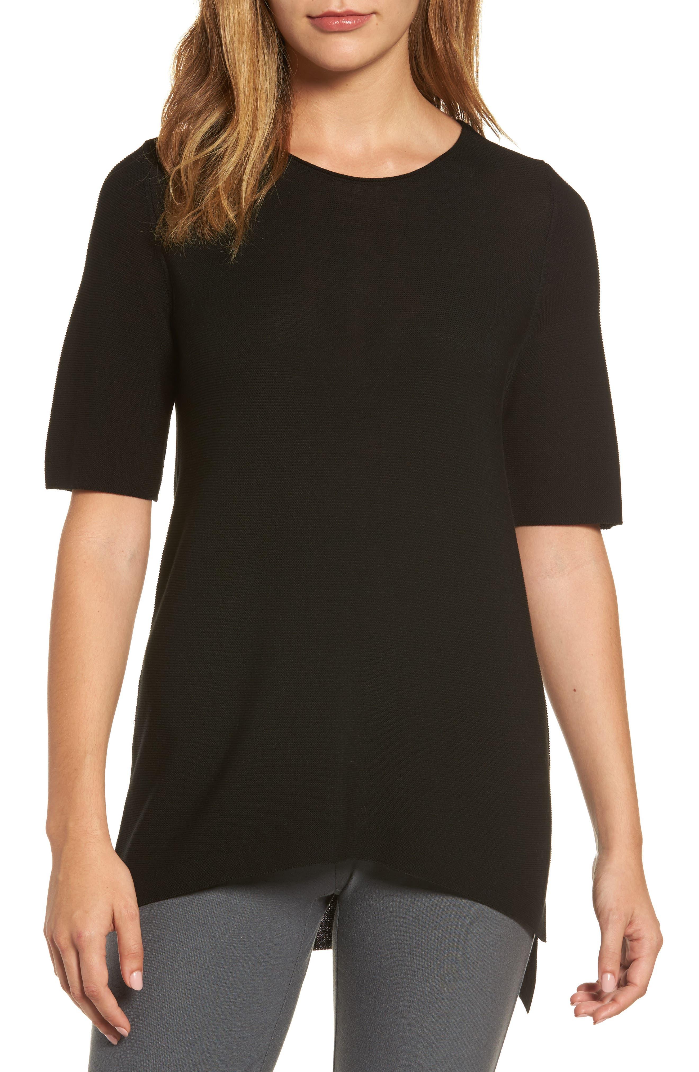 Tencel<sup>®</sup> Knit Top,                         Main,                         color, 001