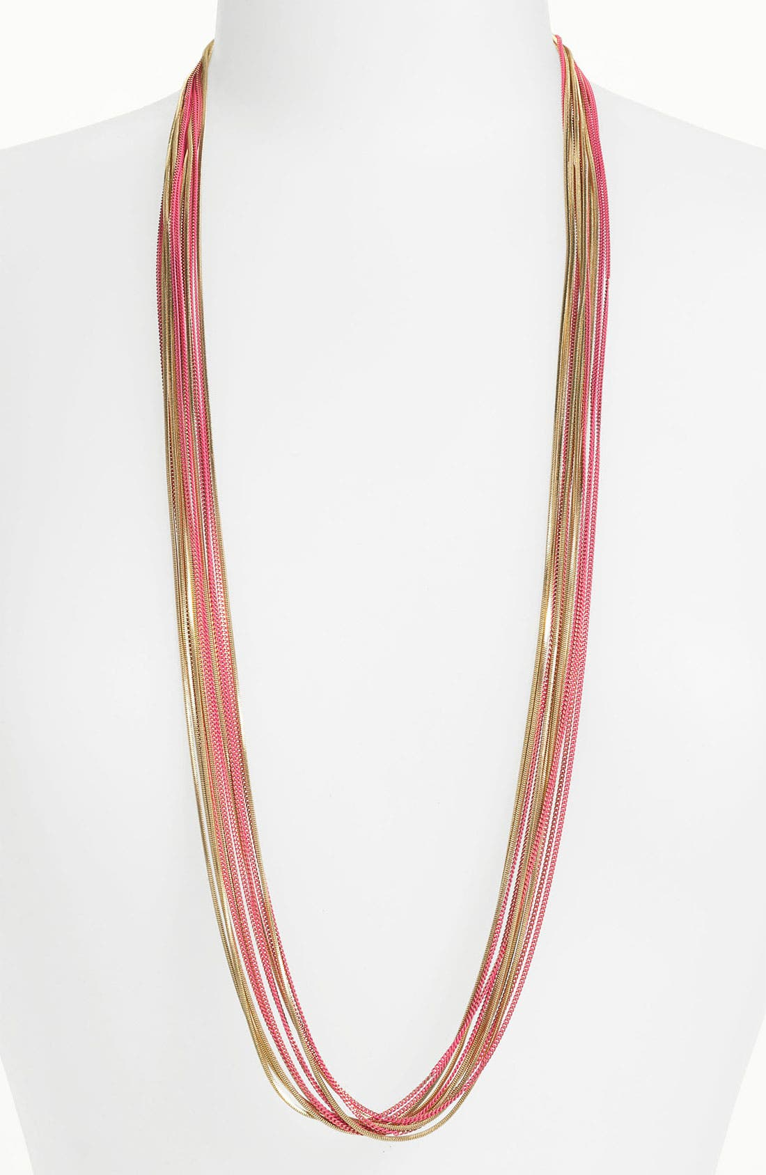 Long Multistrand Necklace,                             Main thumbnail 5, color,