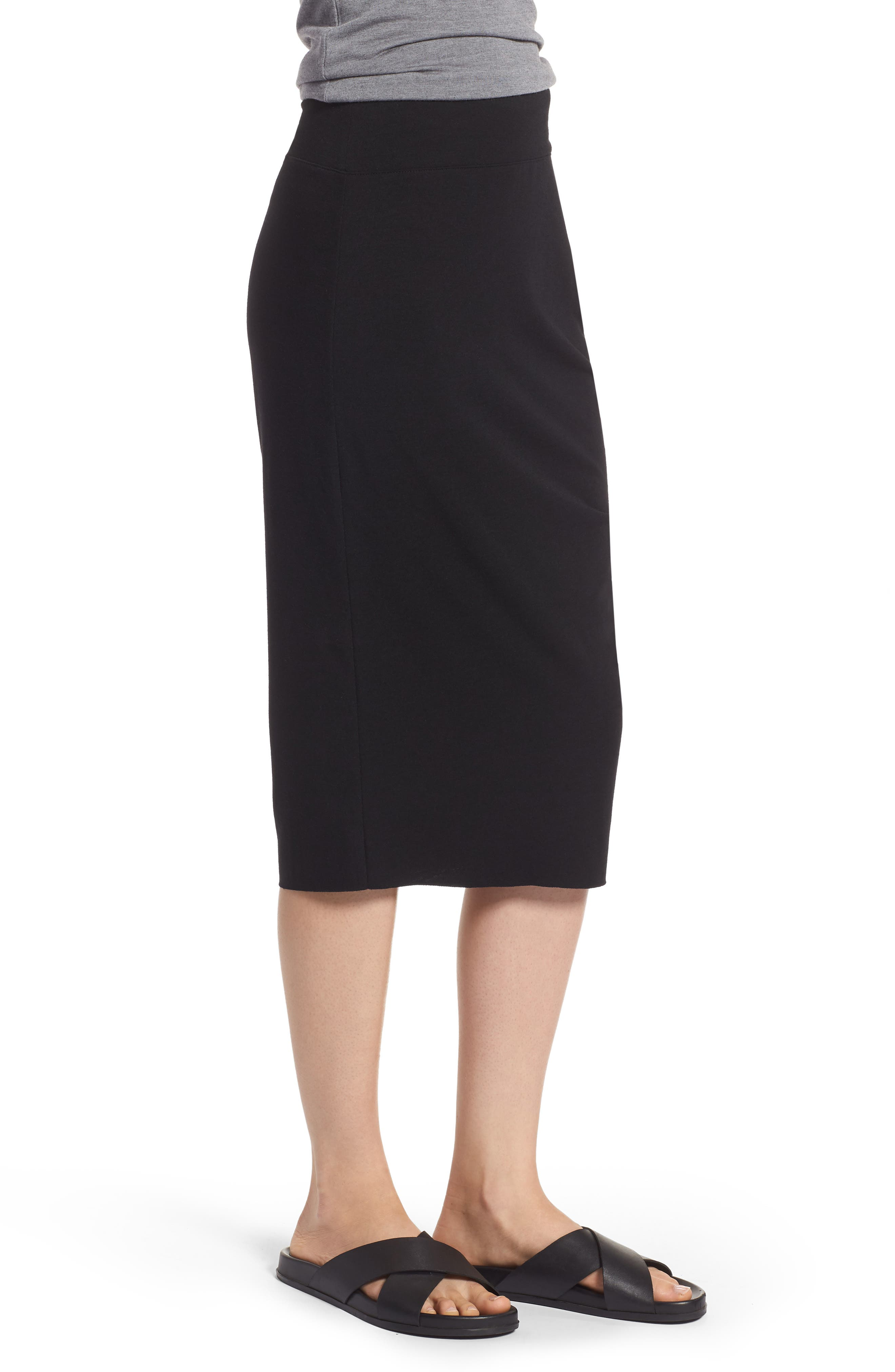 Ruched Knit Midi Skirt,                             Alternate thumbnail 5, color,