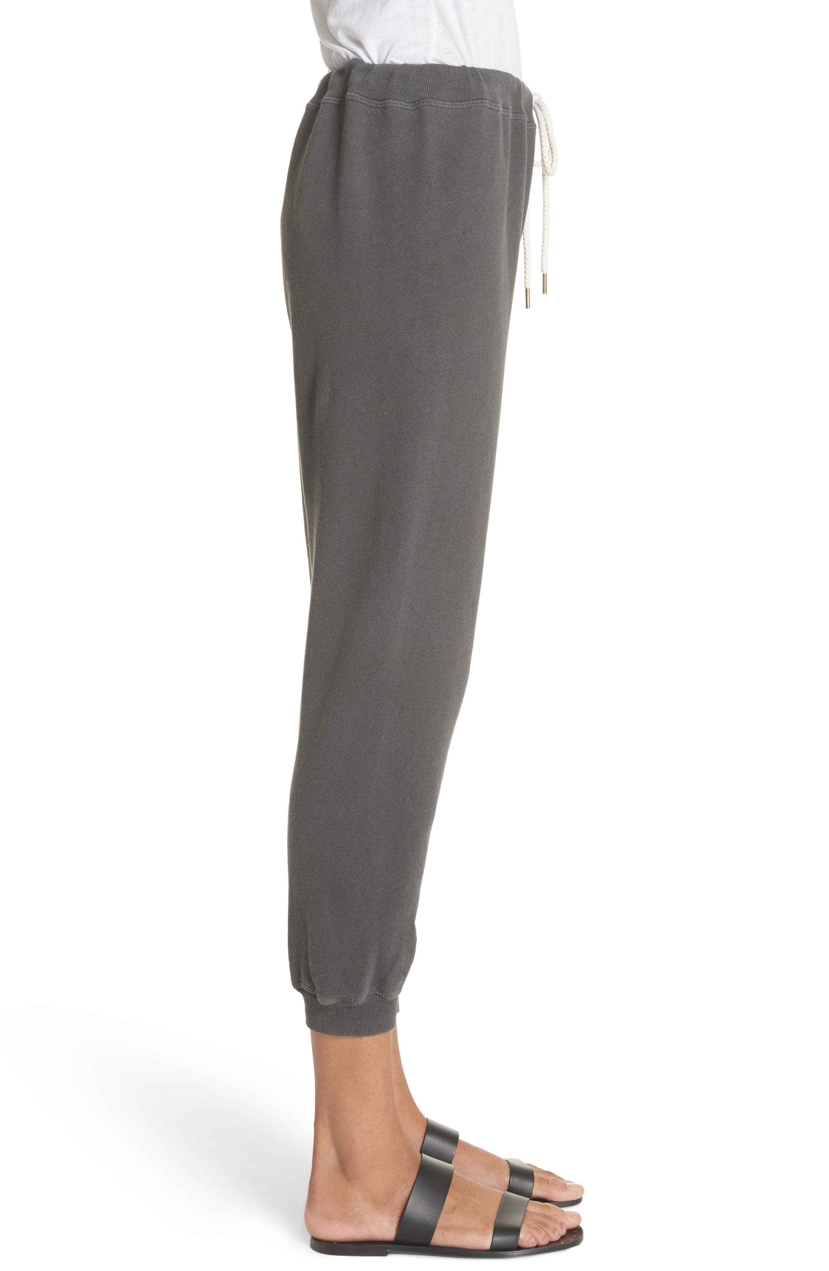 The Cropped Jogger Pants,                             Alternate thumbnail 3, color,                             WASHED BLACK