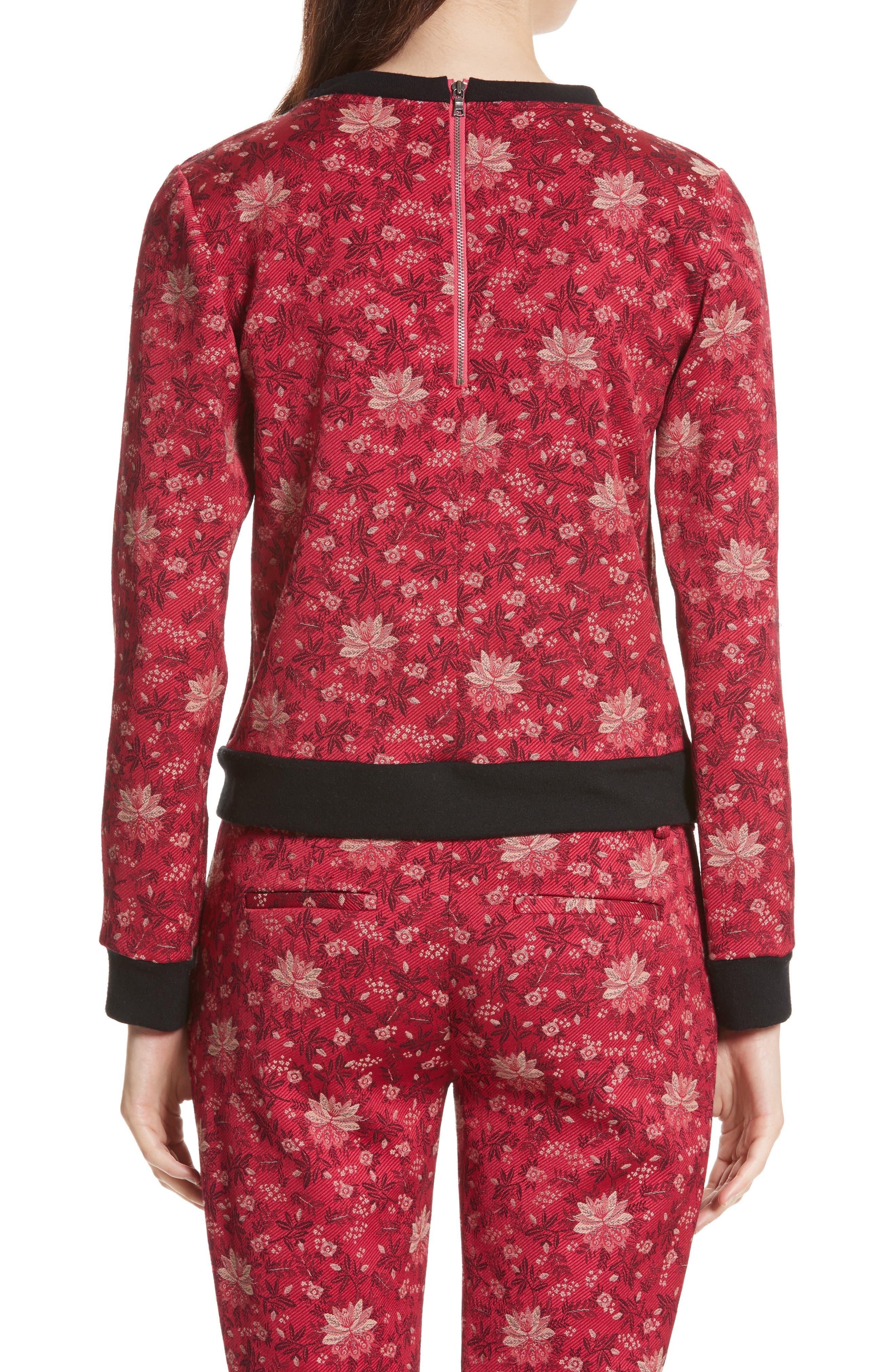 Marylou Floral Jacquard Sweatshirt,                             Alternate thumbnail 2, color,                             650