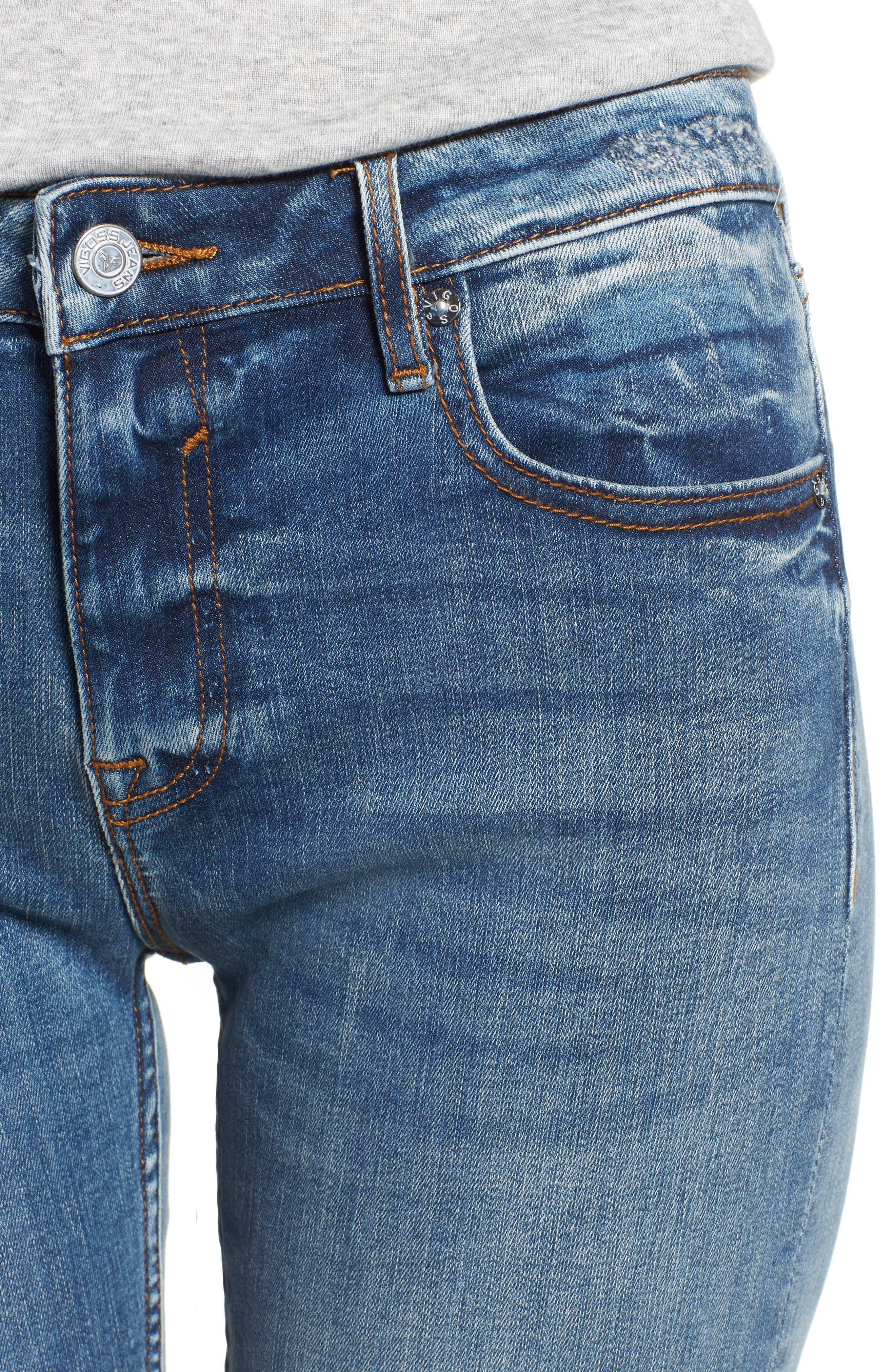 Jagger Crop Straight Leg Jeans,                             Alternate thumbnail 4, color,                             400