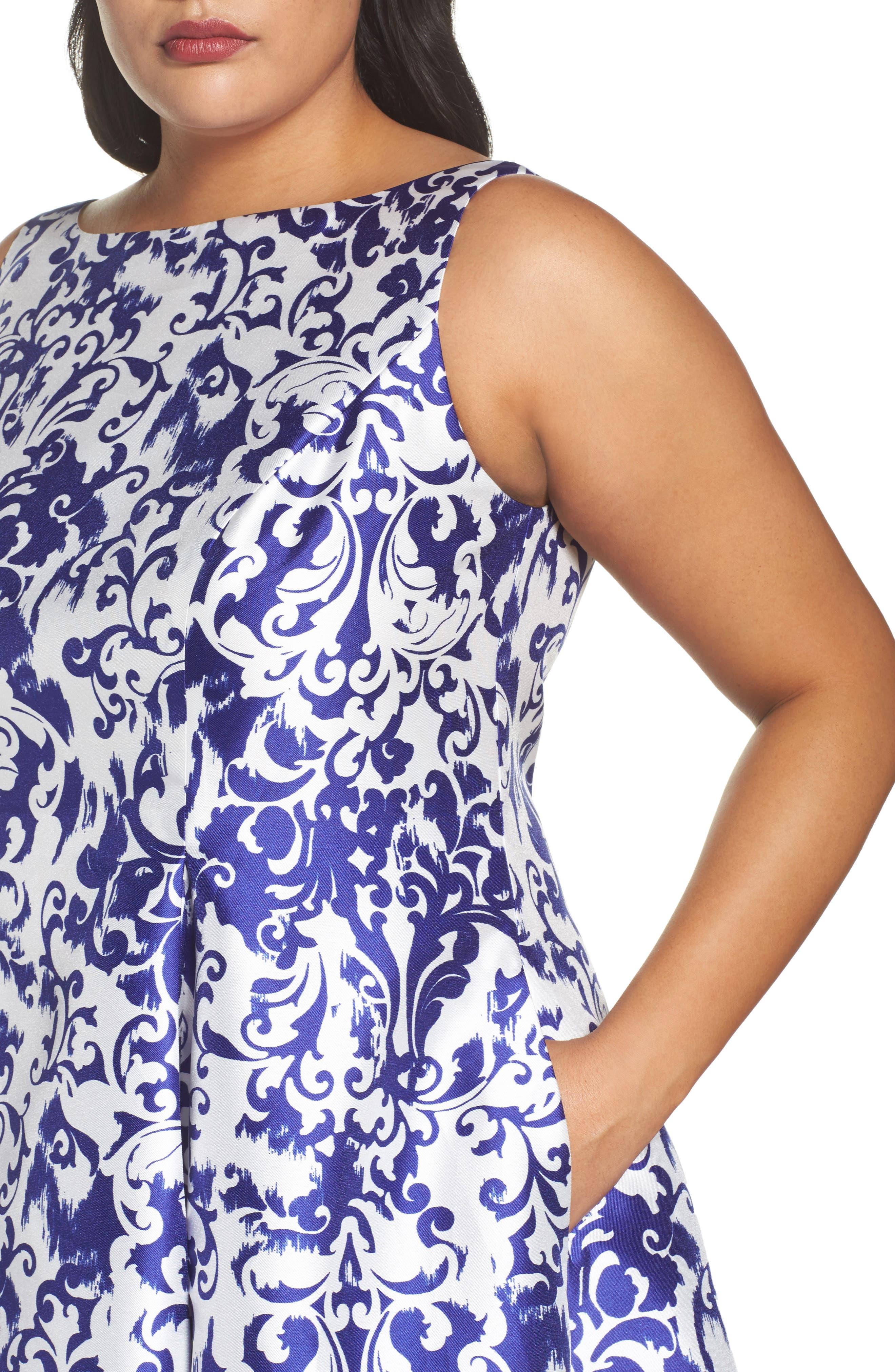 Fit & Flare Dress,                             Alternate thumbnail 4, color,                             480