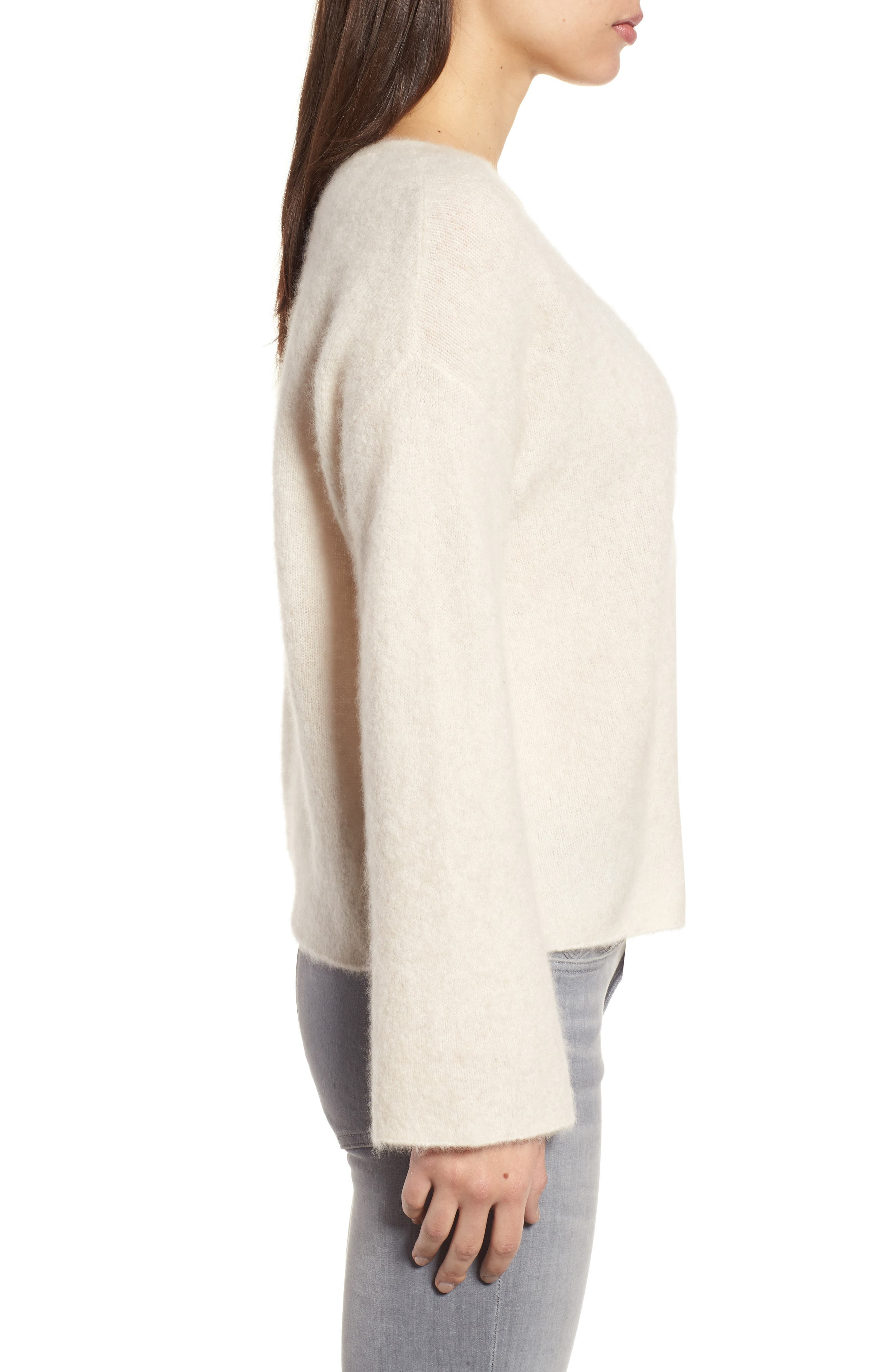 Boxy Cashmere Blend Sweater,                             Alternate thumbnail 3, color,                             103