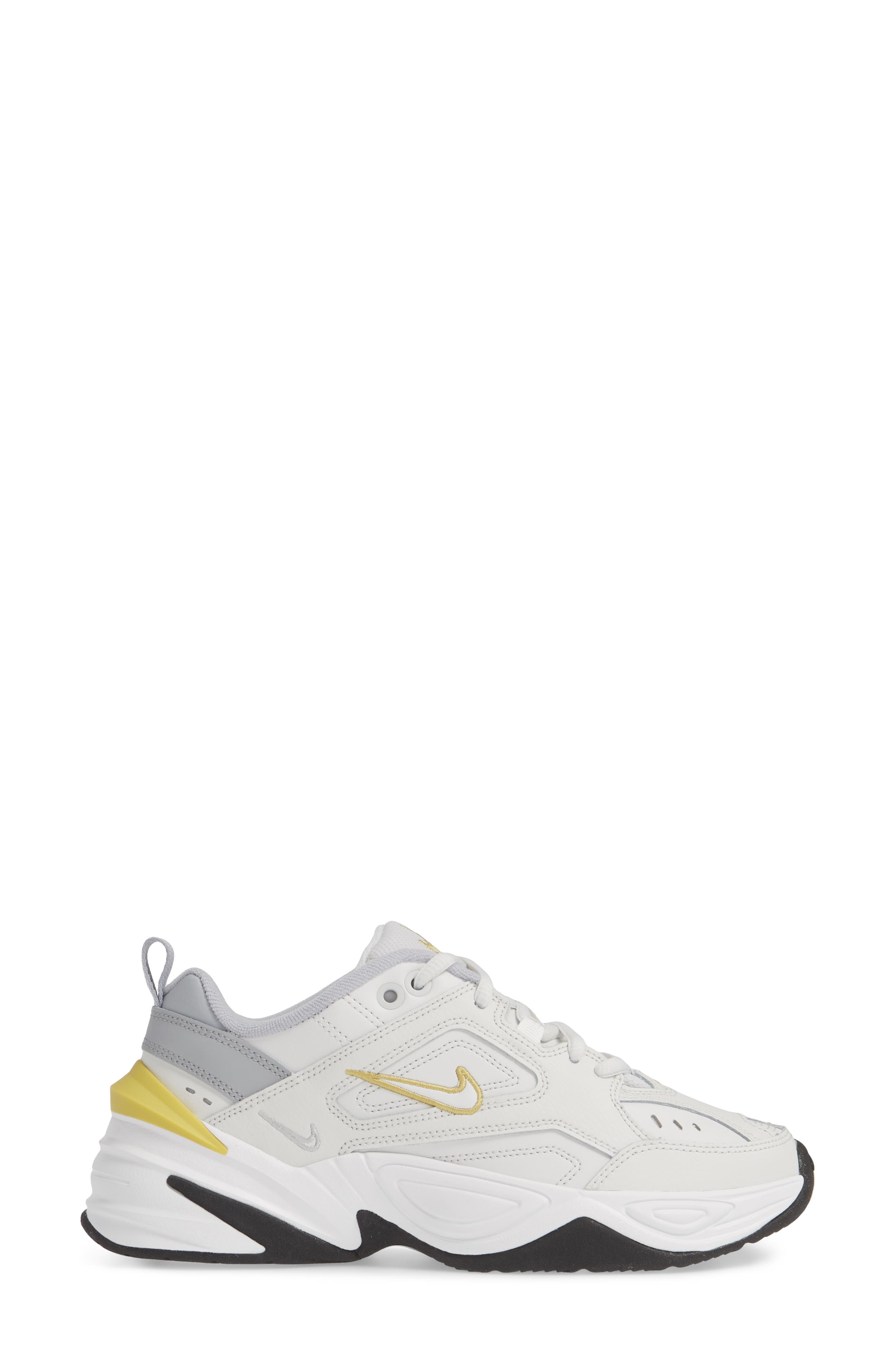 NIKE,                             M2K Tekno Sneaker,                             Alternate thumbnail 3, color,                             PLATINUM TINT/ CELERY/ GREY