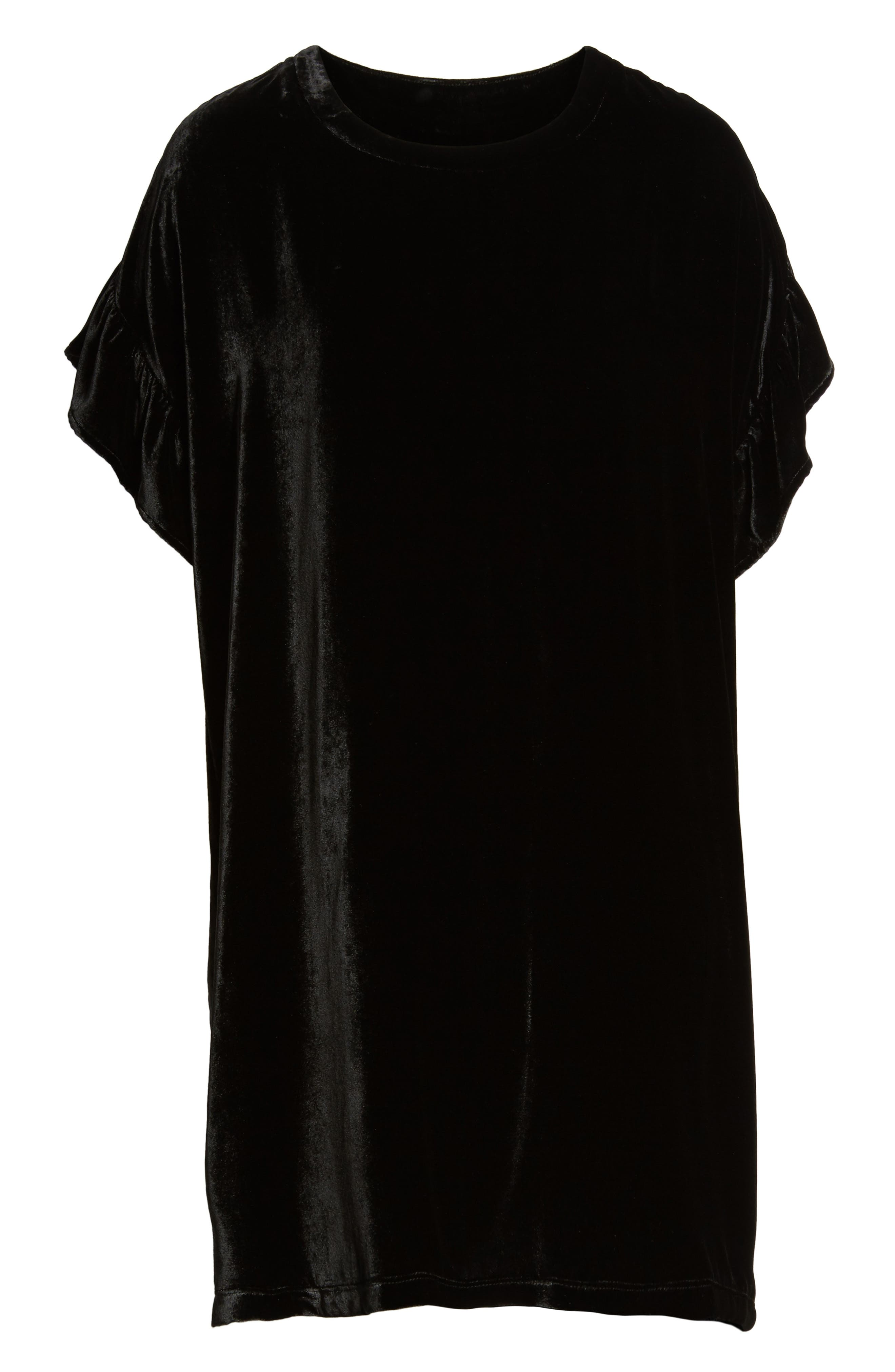 The Janie Velvet Shift Dress,                             Alternate thumbnail 6, color,                             001
