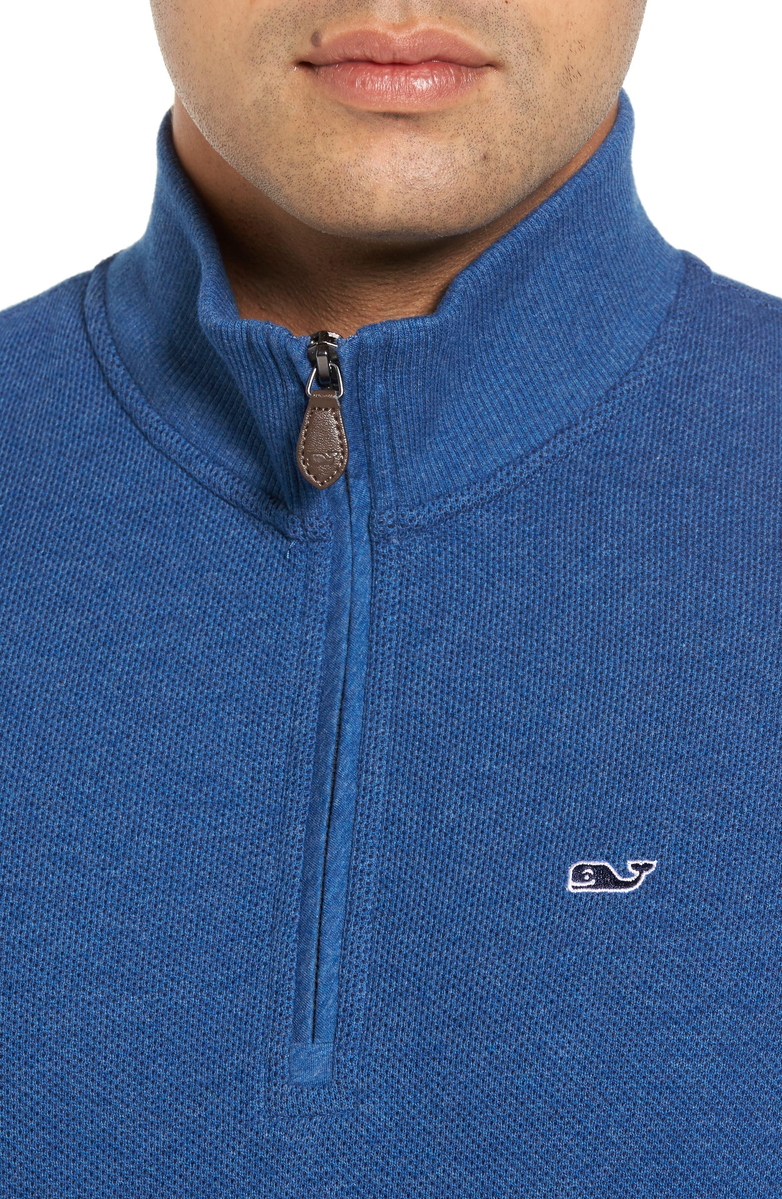 Double-Knit Quarter Zip Pullover,                             Alternate thumbnail 4, color,                             461