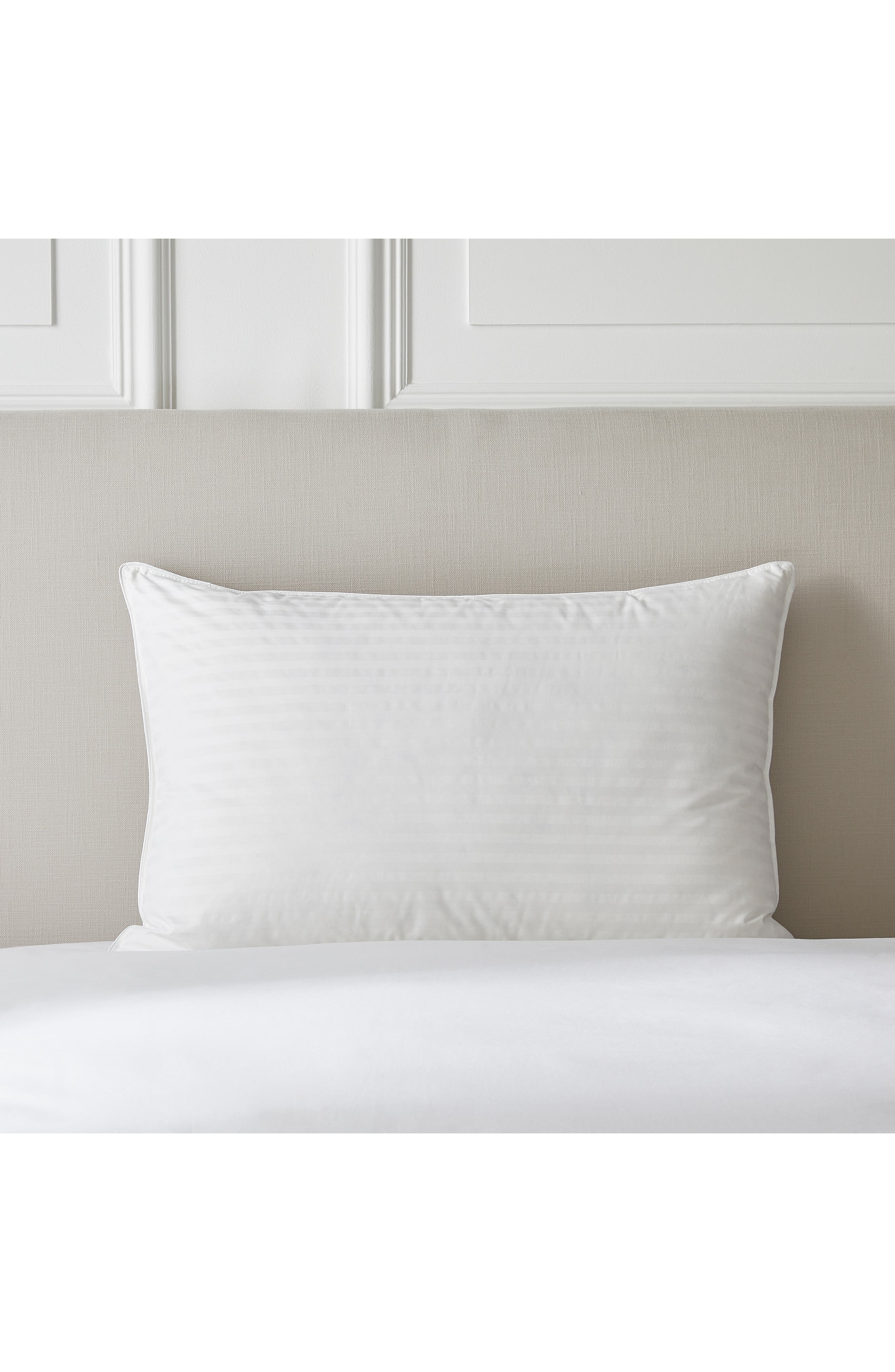 THE WHITE COMPANY,                             Firm Hungarian Goose Down & Feather Pillow,                             Main thumbnail 1, color,                             IVORY
