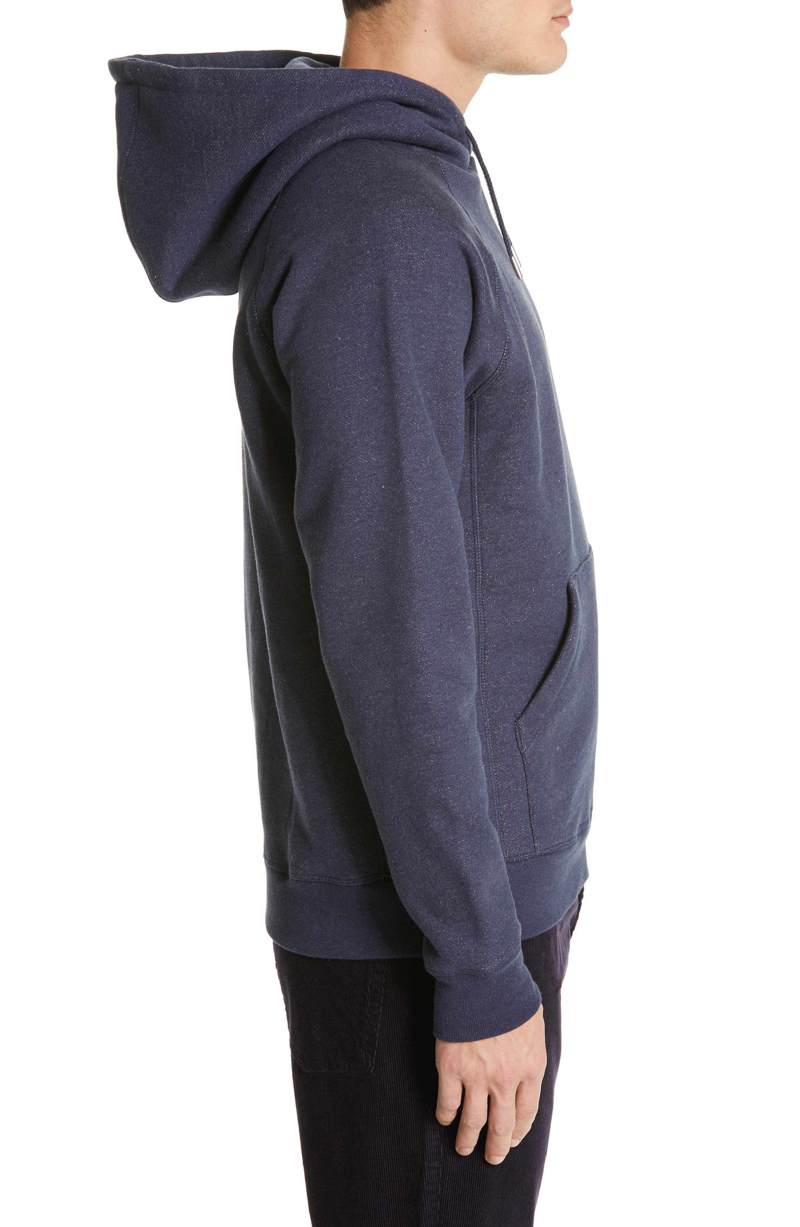 NORSE PROJECTS,                             Ketel Hoodie,                             Alternate thumbnail 3, color,                             DARK NAVY