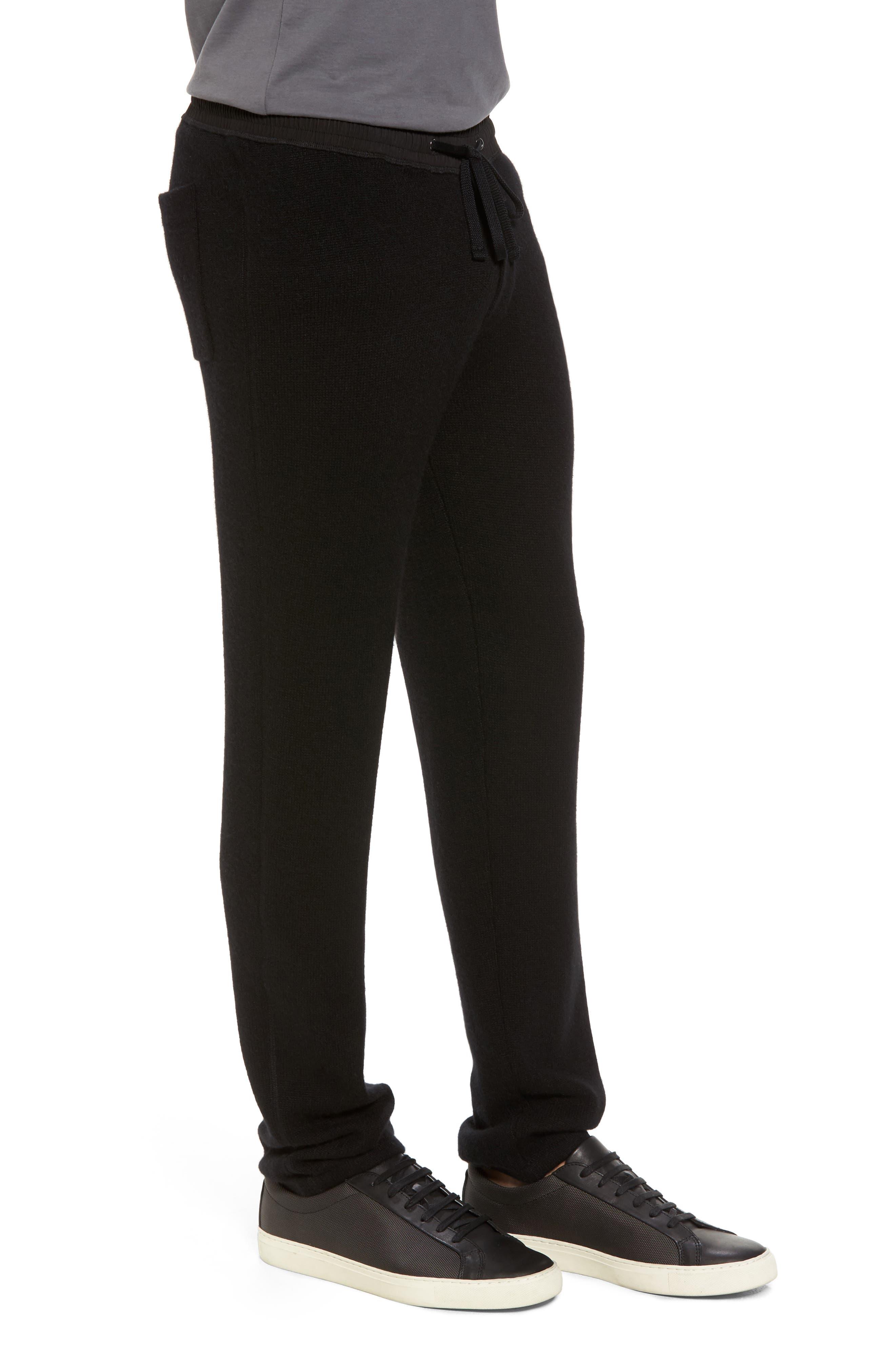 Cashmere Sweatpants,                             Alternate thumbnail 3, color,                             001
