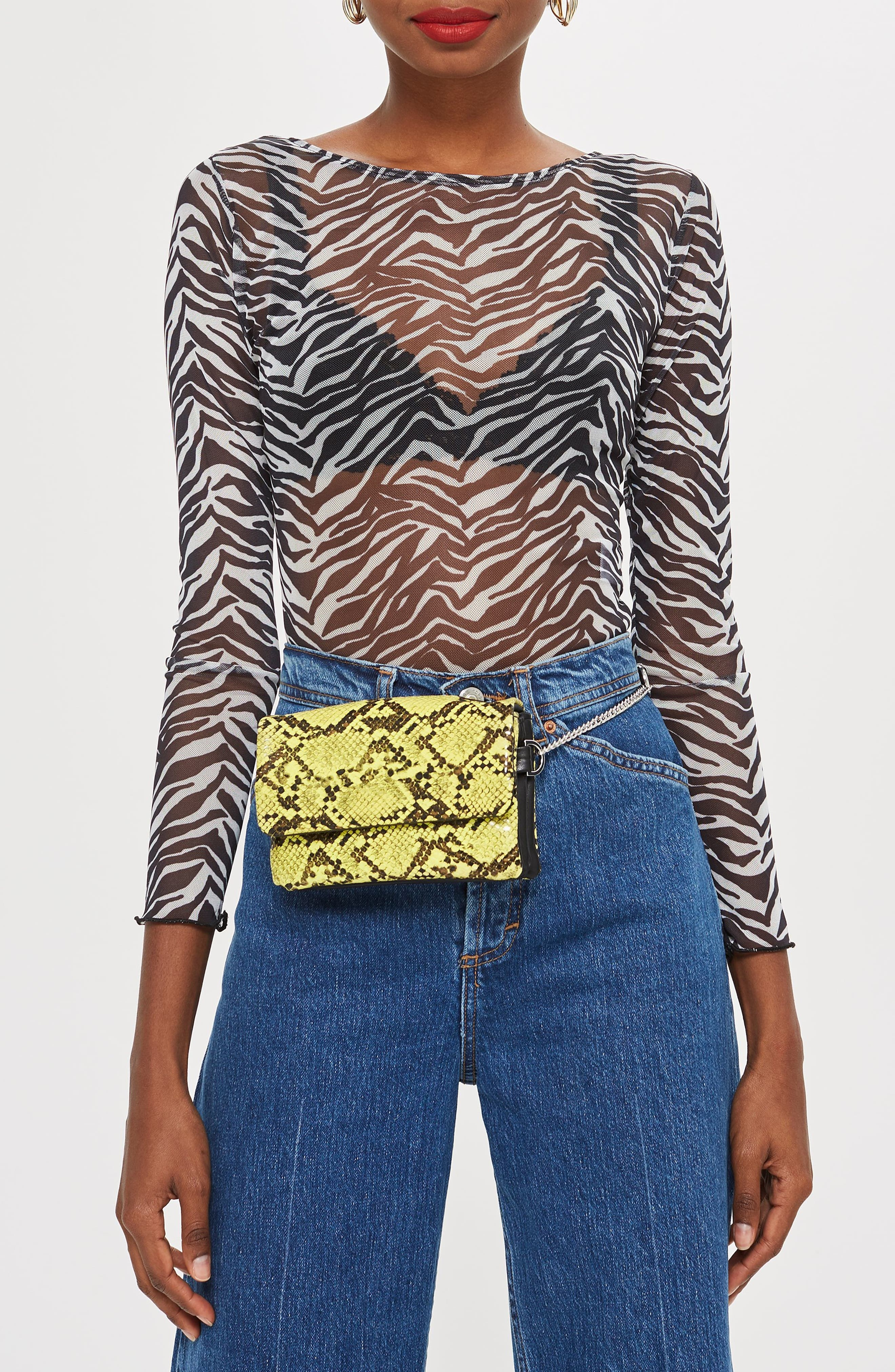 TOPSHOP,                             Beau Belt Bag,                             Alternate thumbnail 8, color,                             700