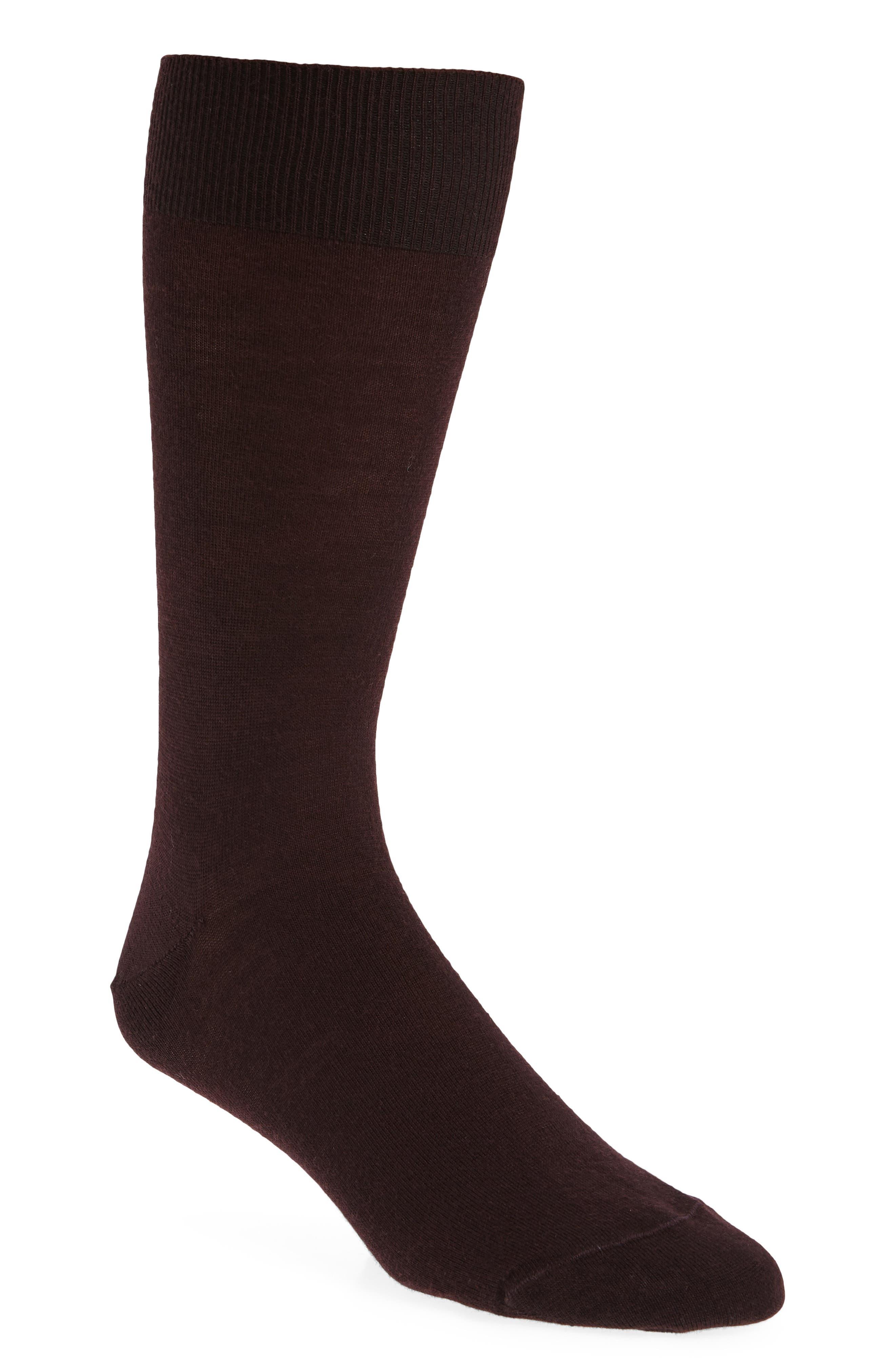 Slack Socks,                             Main thumbnail 1, color,                             BURGUNDY STEM