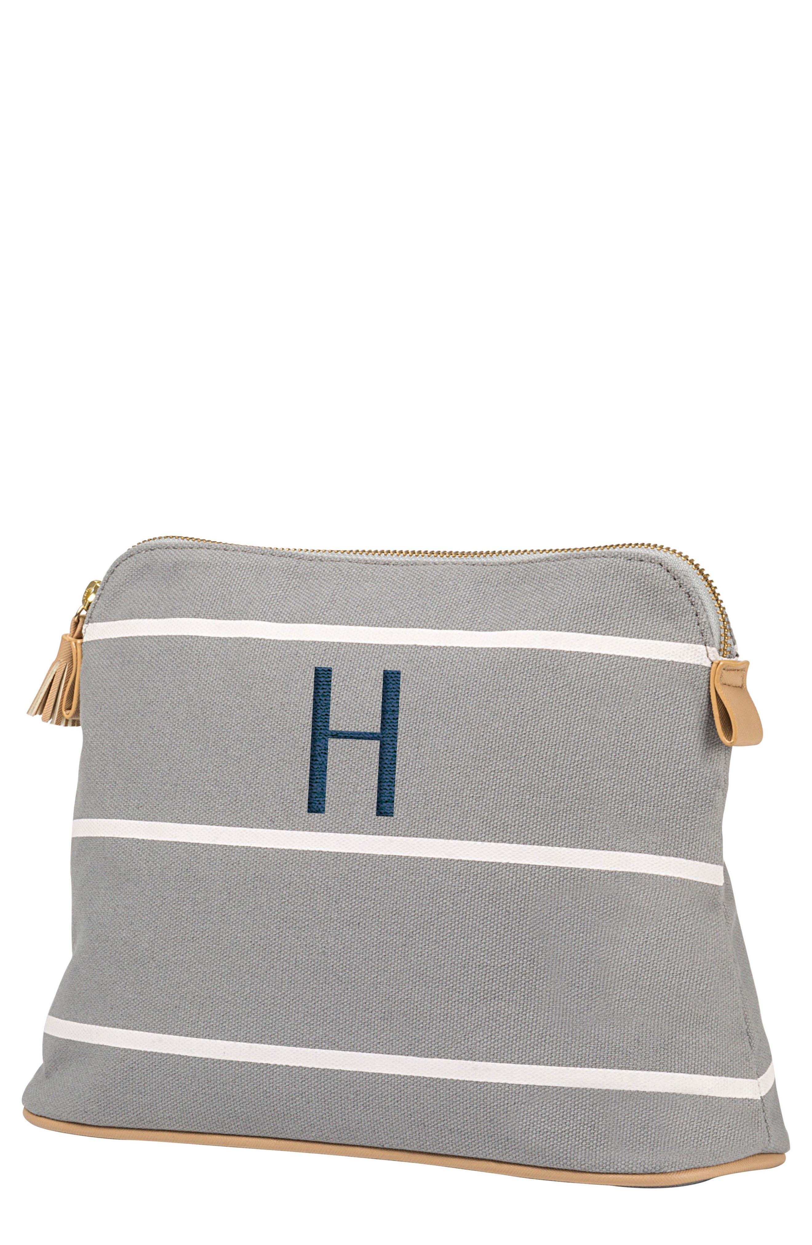Monogram Cosmetics Bag,                             Main thumbnail 1, color,                             GREY H