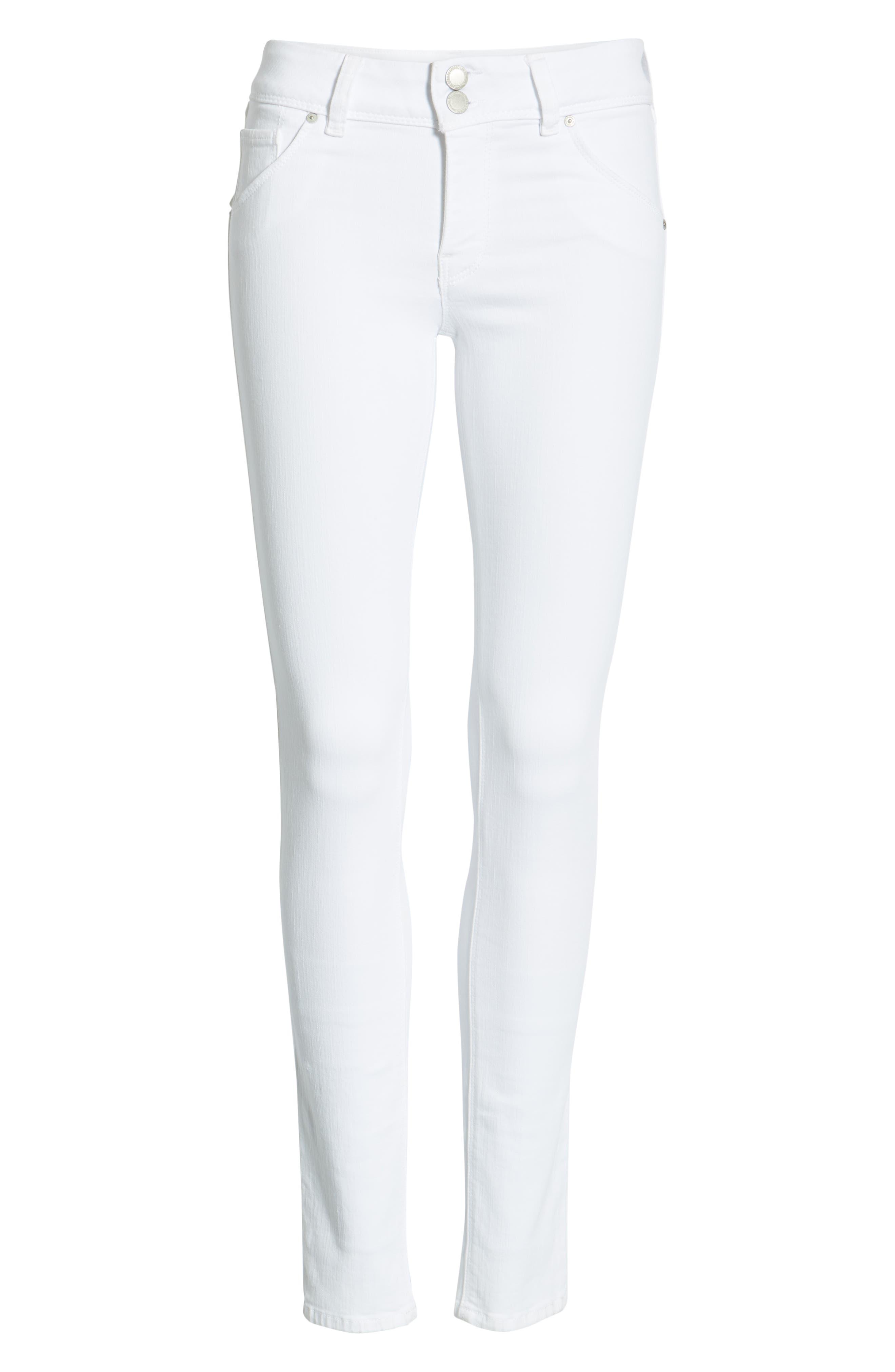 HUDSON JEANS,                             Collin Skinny Jeans,                             Alternate thumbnail 7, color,                             WHITE