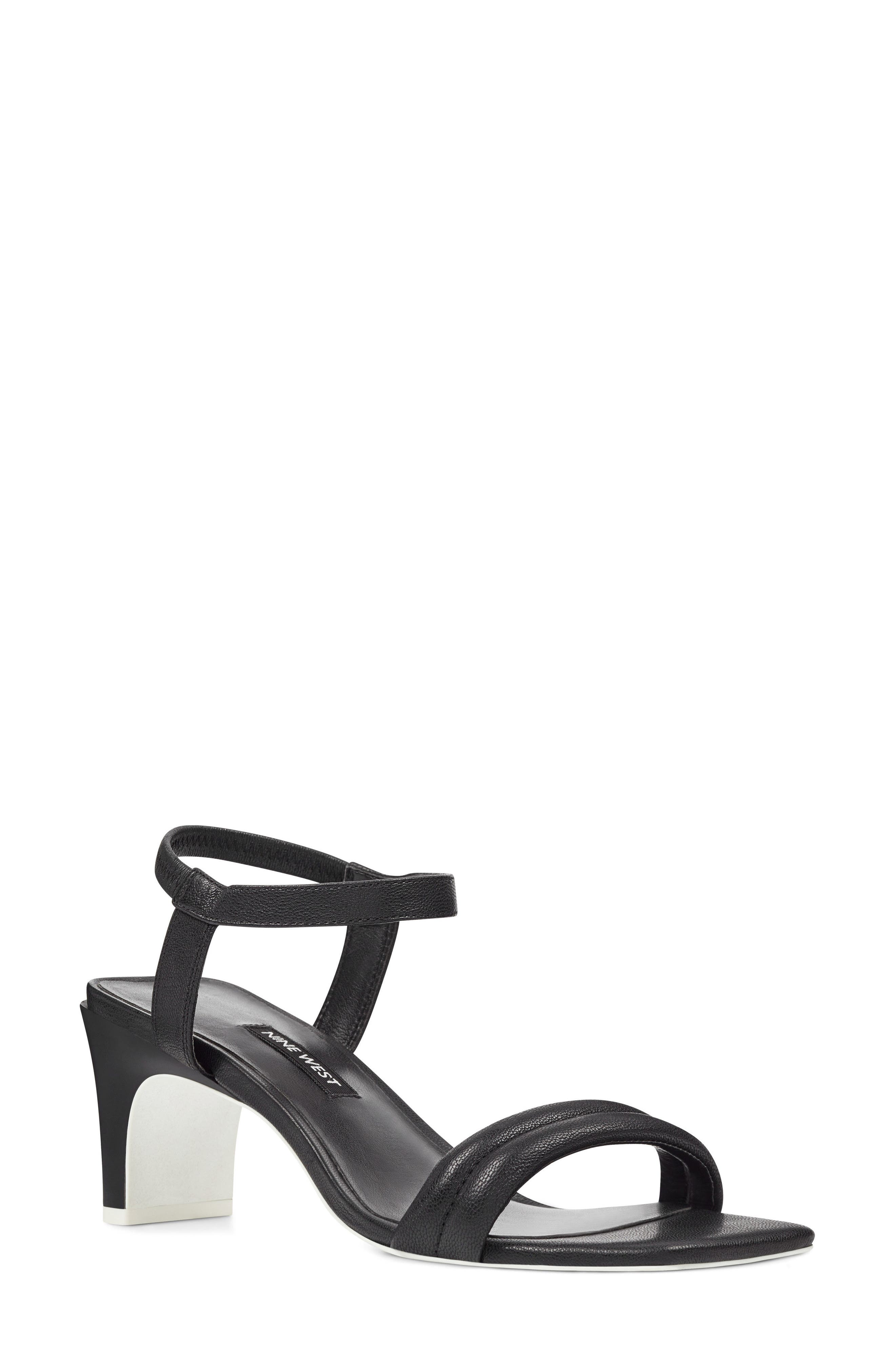 Urgreat Ankle Strap Sandal,                         Main,                         color, BLACK LEATHER