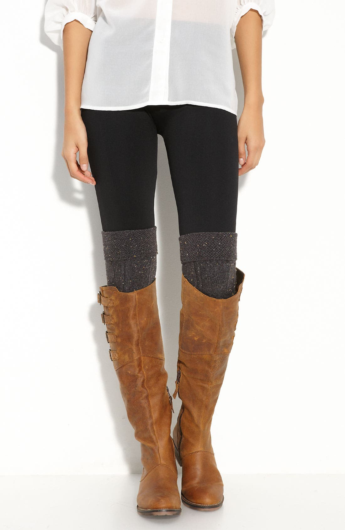 Textured Over the Knee Socks,                             Main thumbnail 1, color,                             021