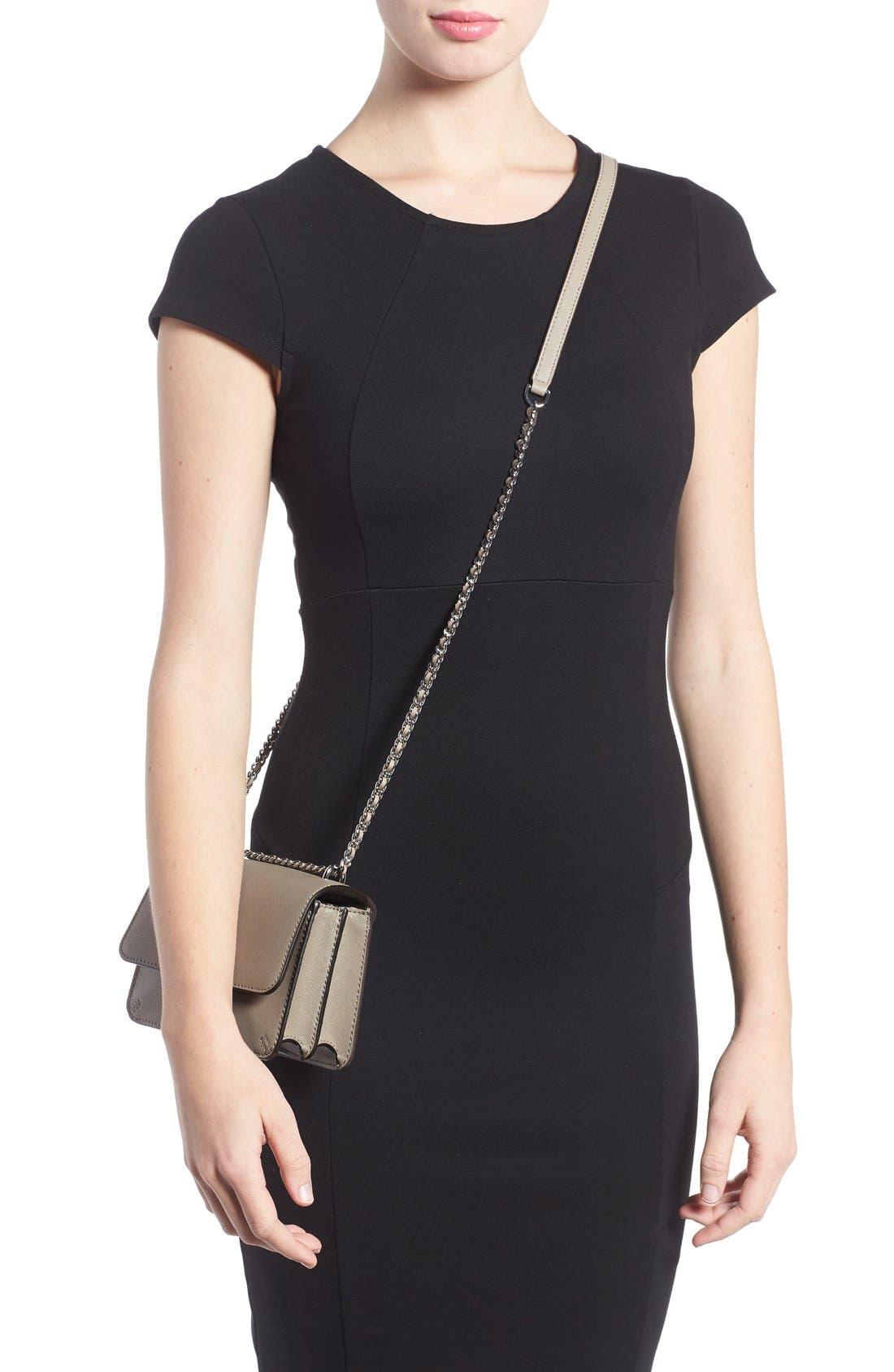 Mini Robinson Convertible Leather Shoulder Bag,                             Alternate thumbnail 4, color,                             036