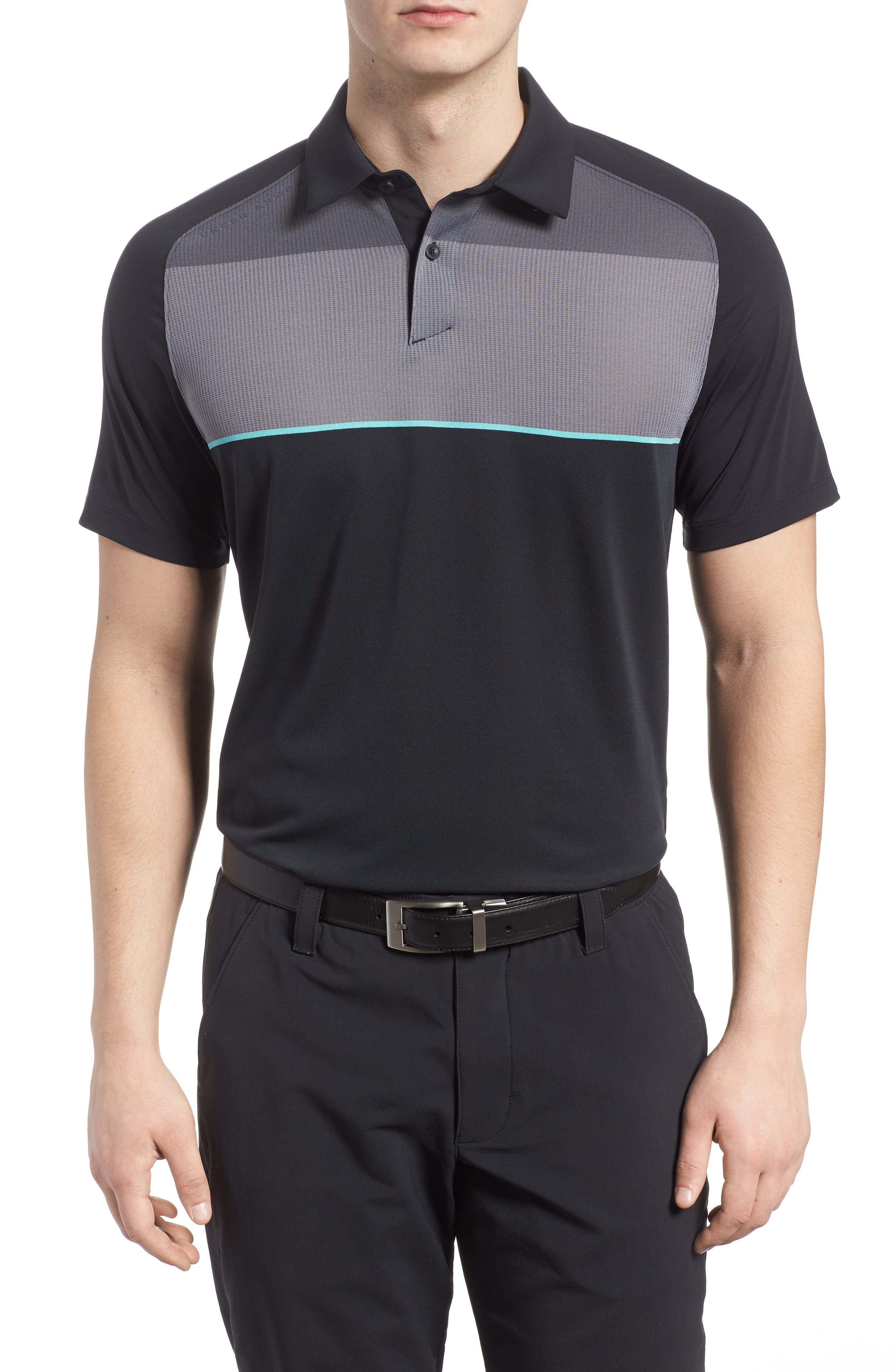 Threadborne Infinite Regular Fit Polo Shirt,                         Main,                         color, 001
