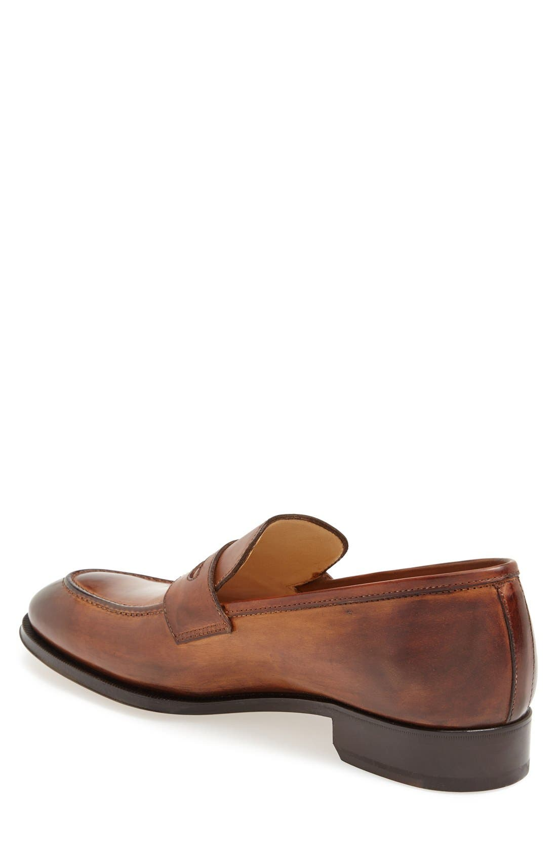 Leather Penny Loafer,                             Alternate thumbnail 13, color,