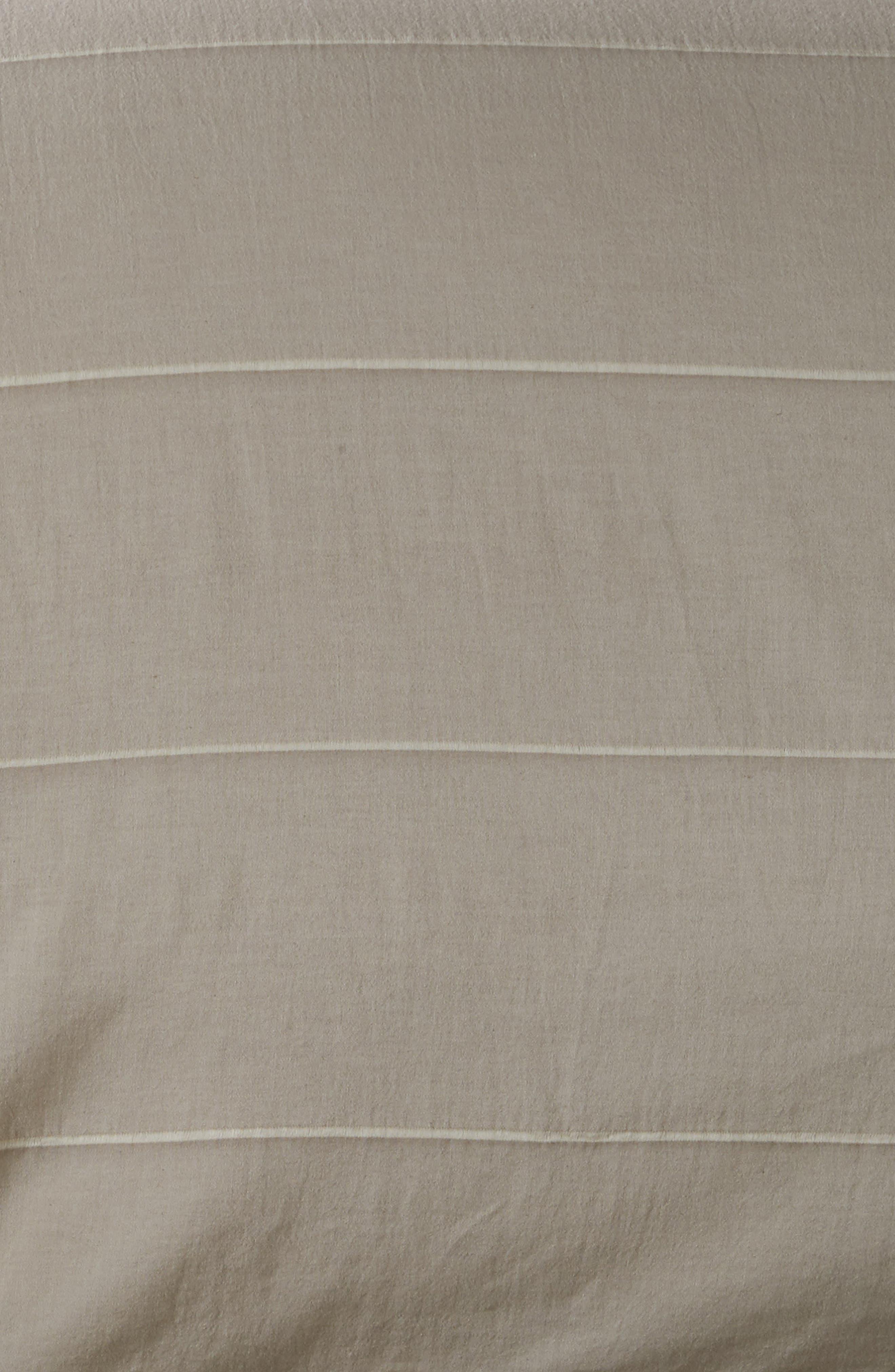 Textured Stripe Duvet Cover,                             Alternate thumbnail 2, color,                             GREY OWL