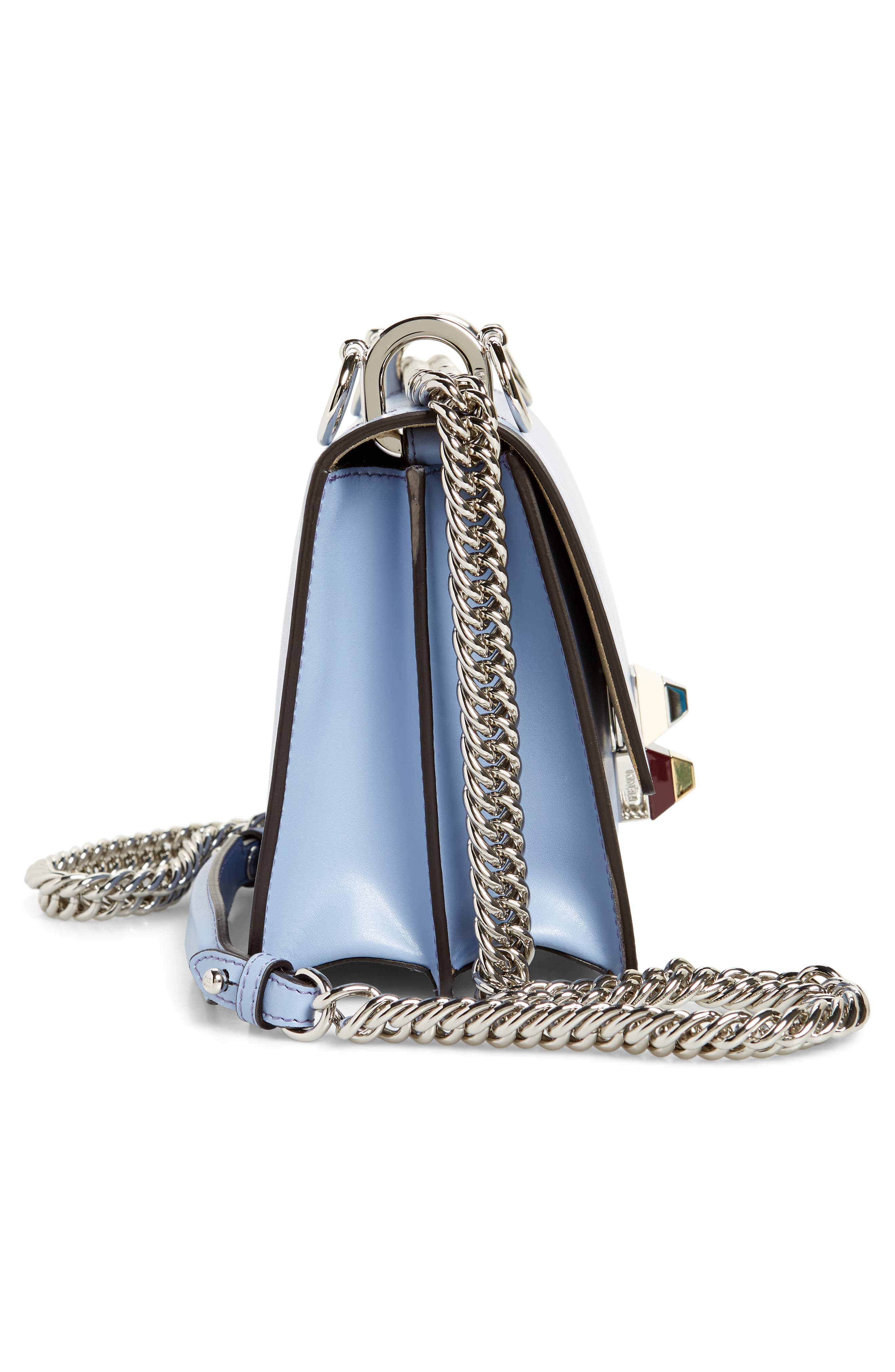 Mini Kan I Leather Shoulder Bag,                             Alternate thumbnail 5, color,                             SKY