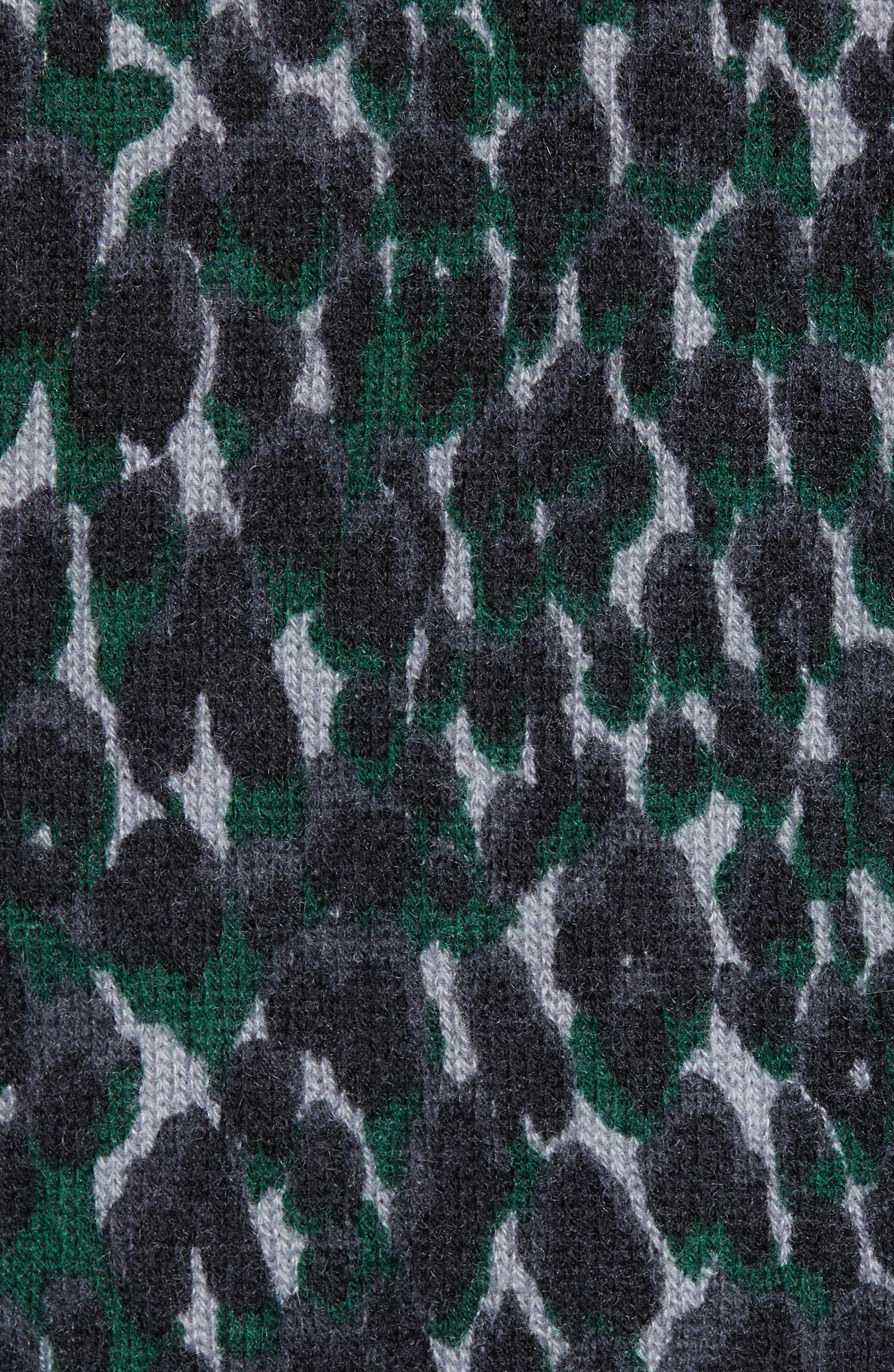 Melanie Leopard Print Cashmere Sweater,                             Alternate thumbnail 5, color,                             073