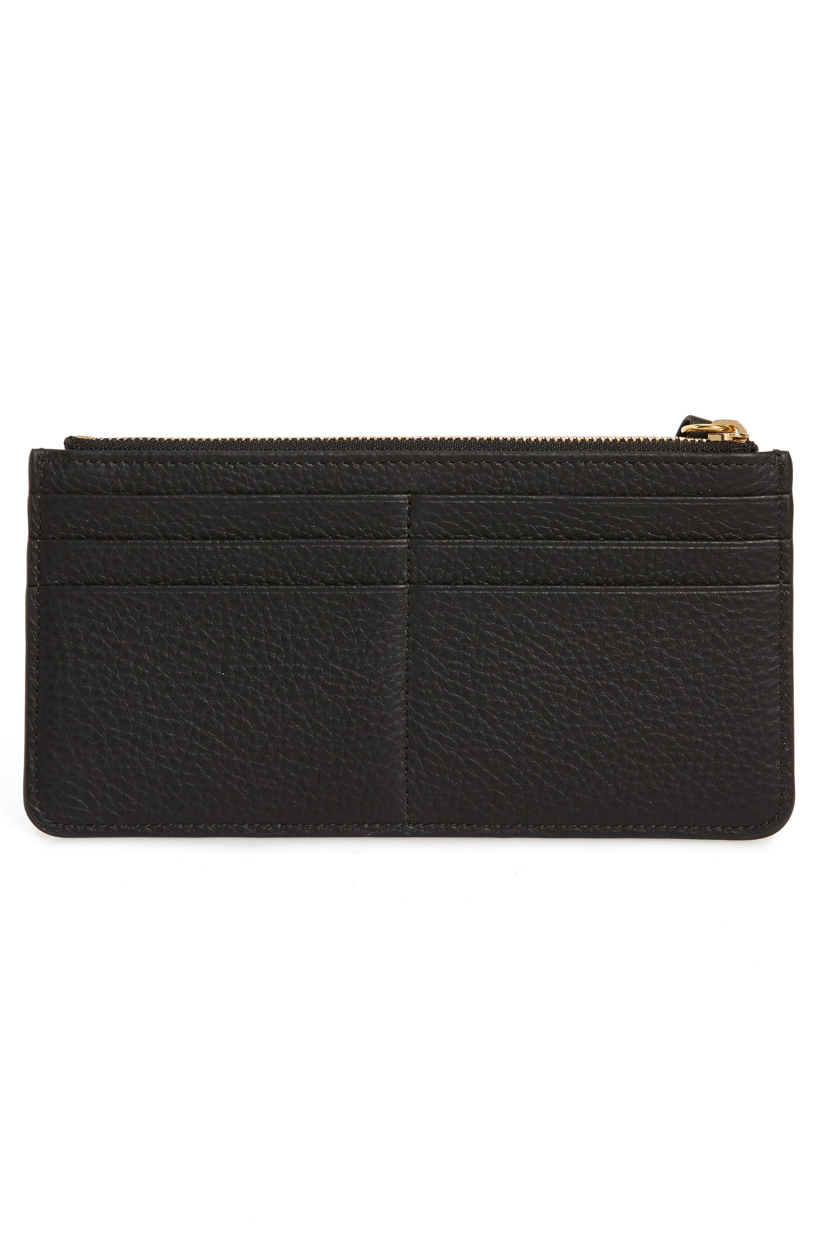 Zip Wallet Pouch,                             Alternate thumbnail 3, color,                             BLACK