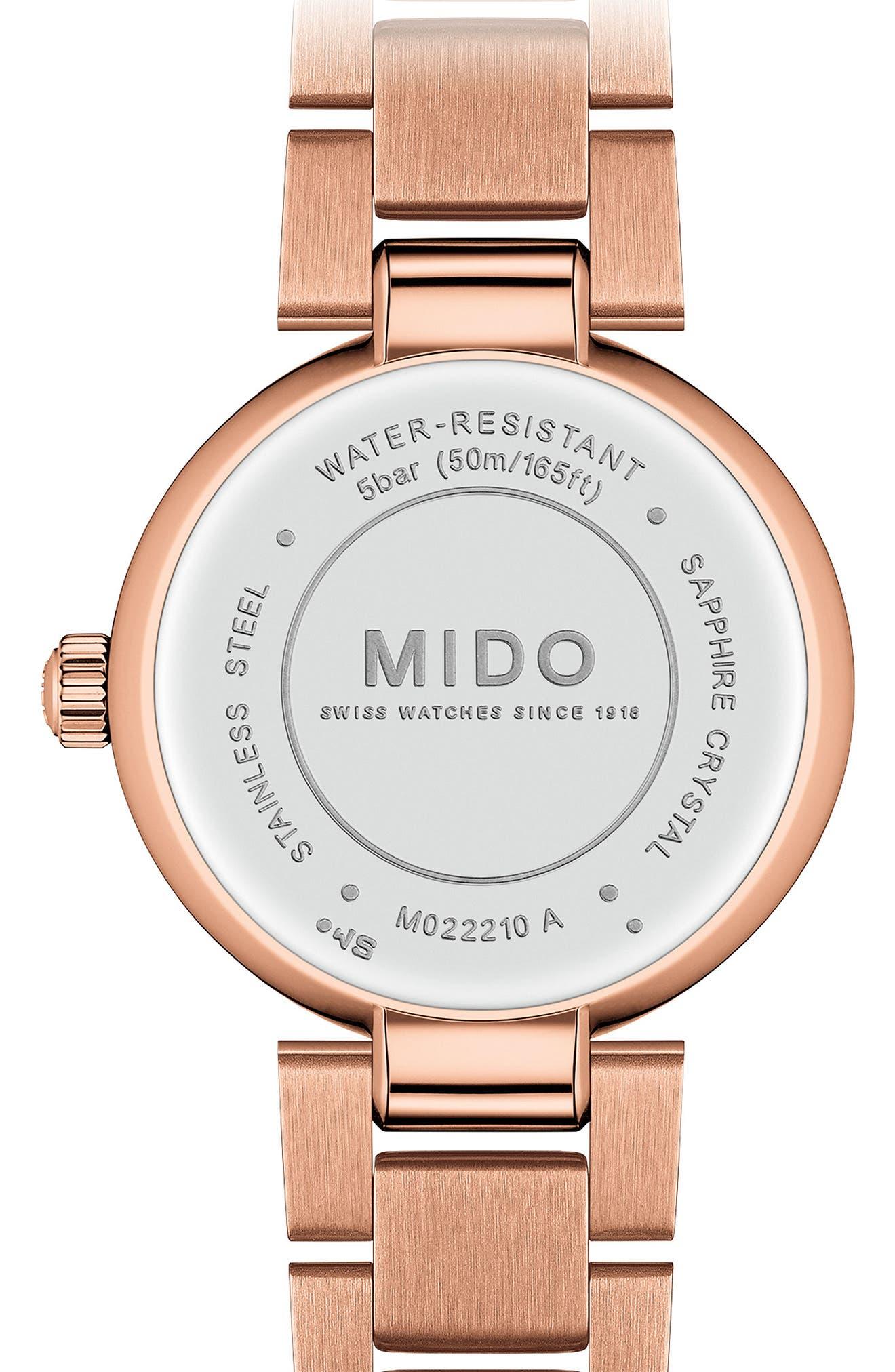 Baroncelli Diamond Bracelet Watch, 28mm,                             Alternate thumbnail 2, color,                             ROSE GOLD