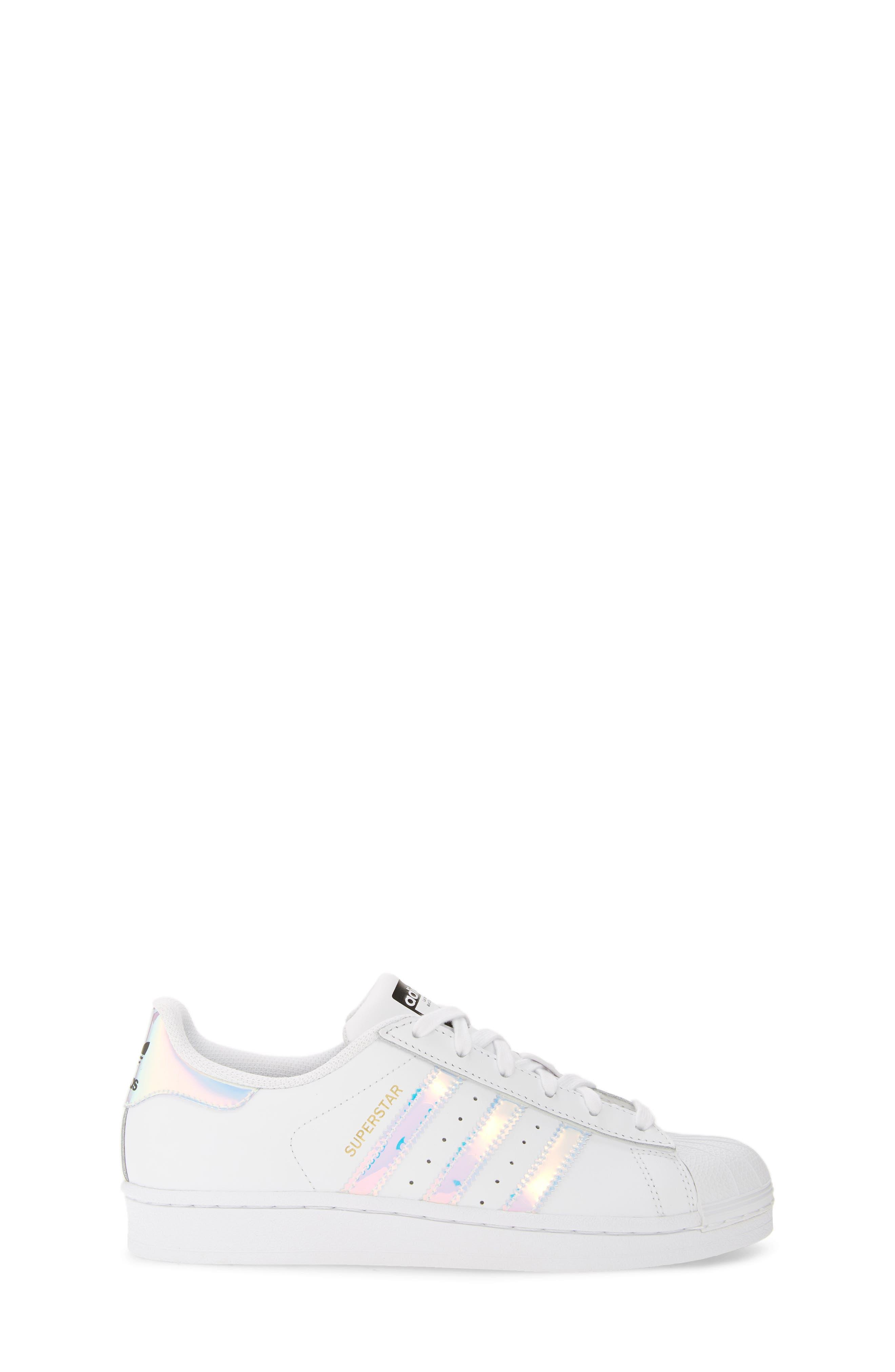 Superstar - Iridescent Sneaker,                             Alternate thumbnail 4, color,                             SILVER METALLIC/ WHITE