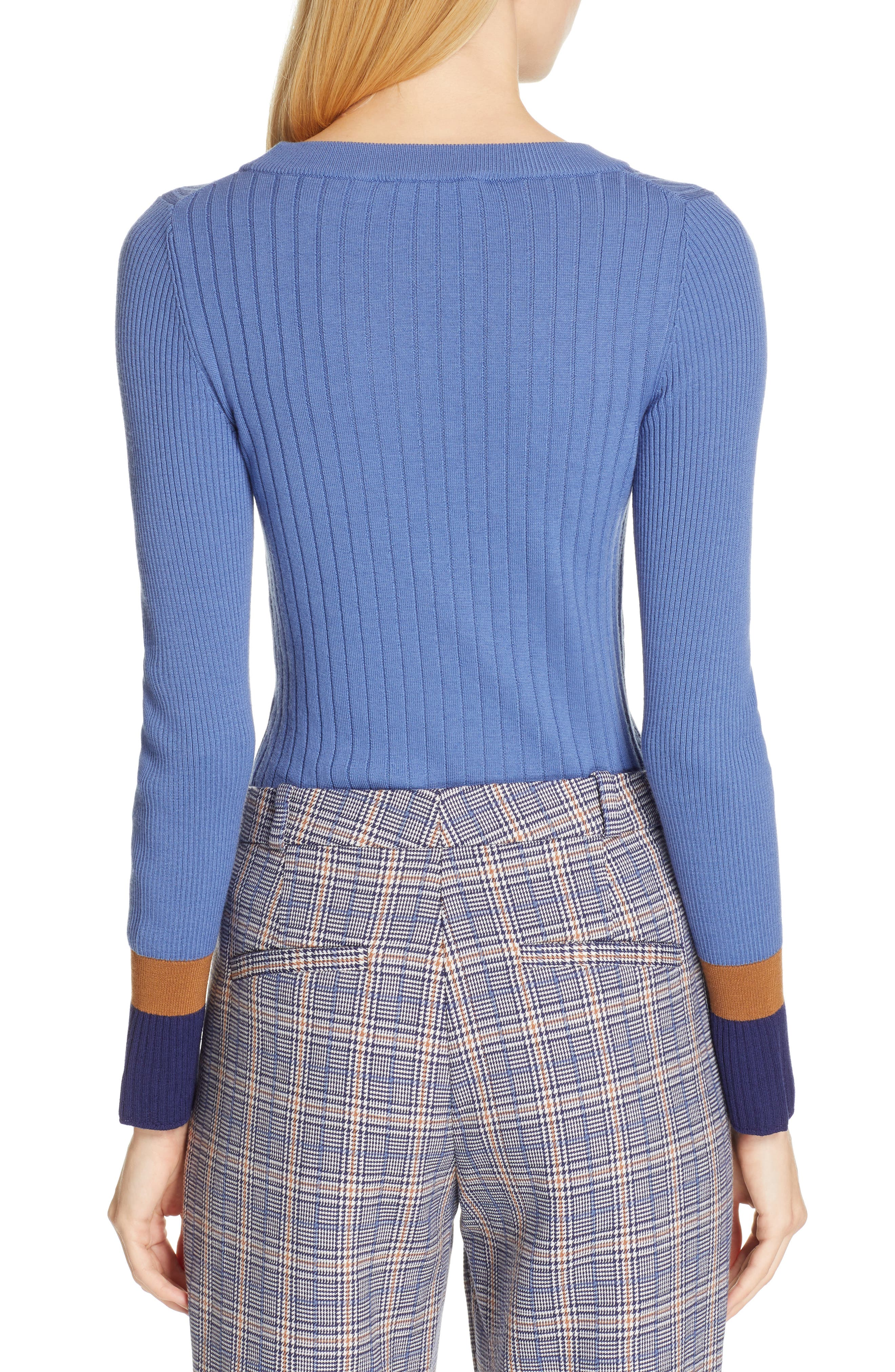 Fadeline Blue Fantasy Ribbed Wool Sweater,                             Alternate thumbnail 2, color,                             SOFT BLUE FANTASY