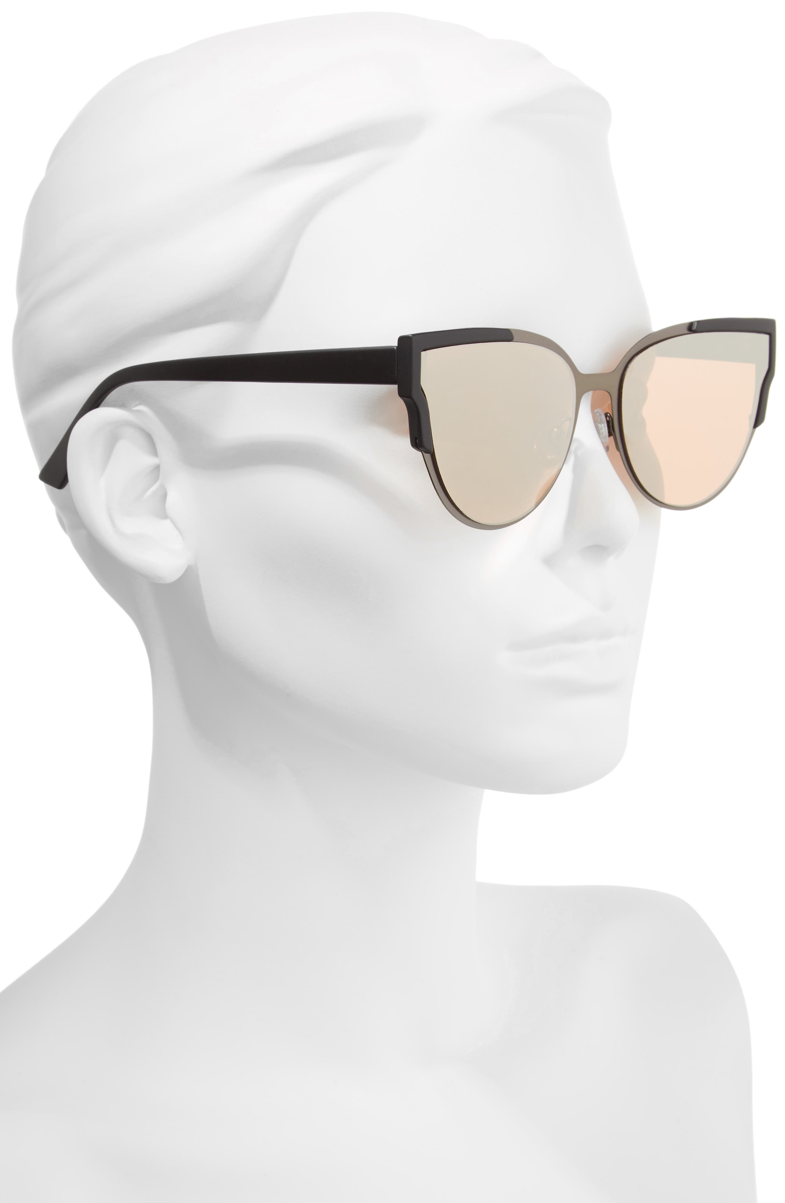 59mm Cat Eye Sunglasses,                             Alternate thumbnail 2, color,                             001