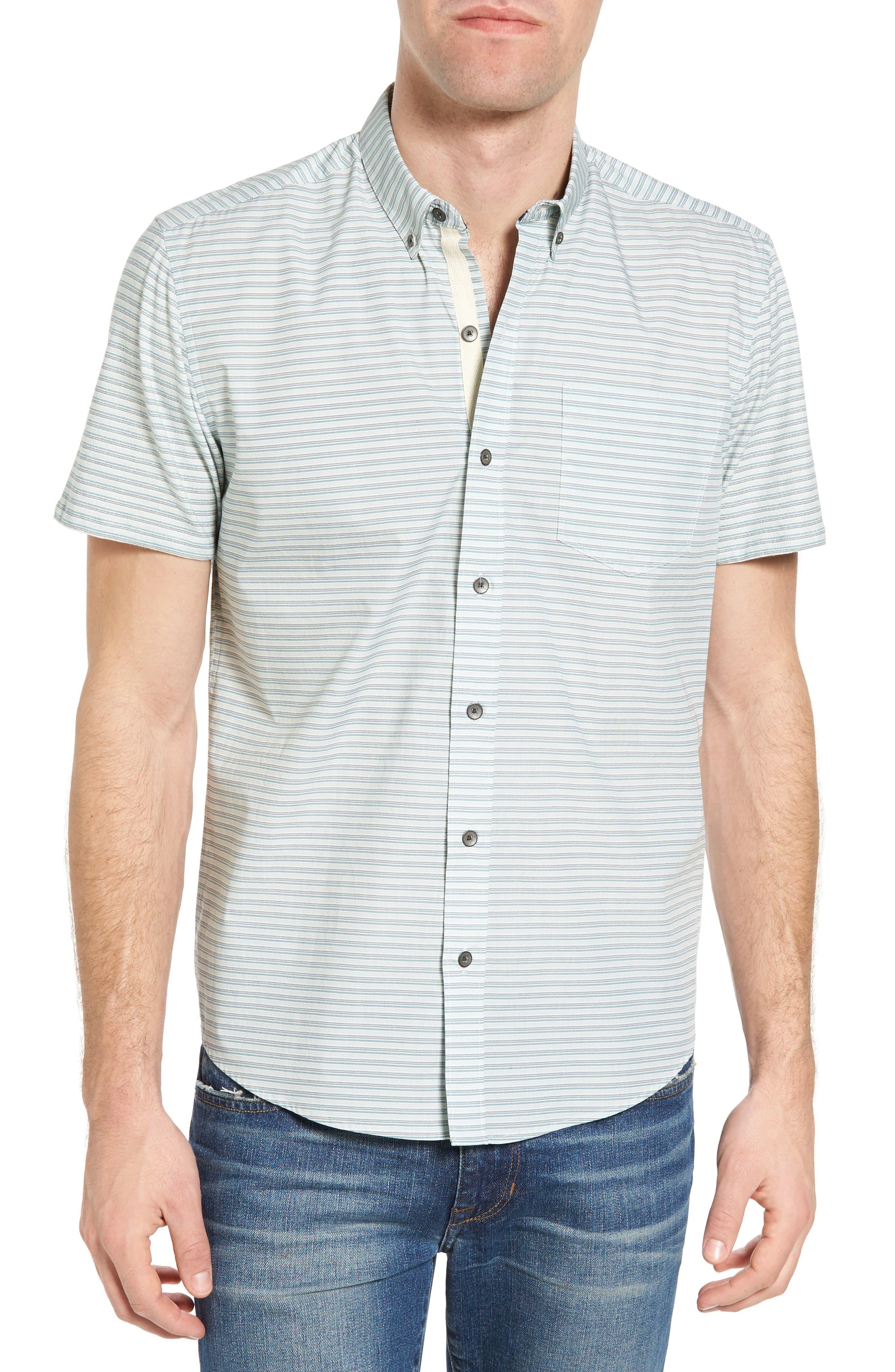 Reworked Mini Stripe Slim Fit Sport Shirt,                         Main,                         color, 104