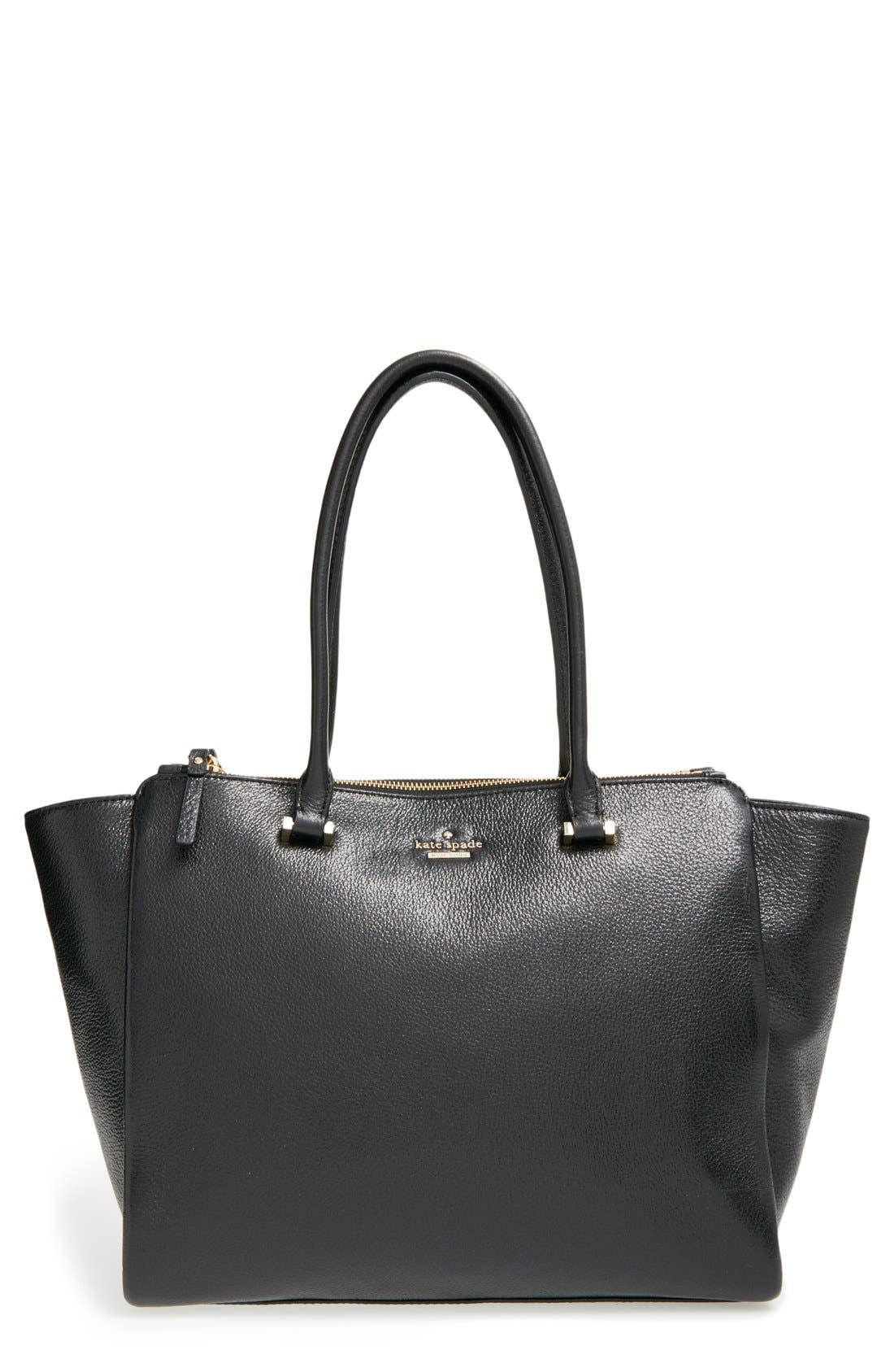 'emerson place - smooth holland' leather tote,                             Main thumbnail 1, color,                             001