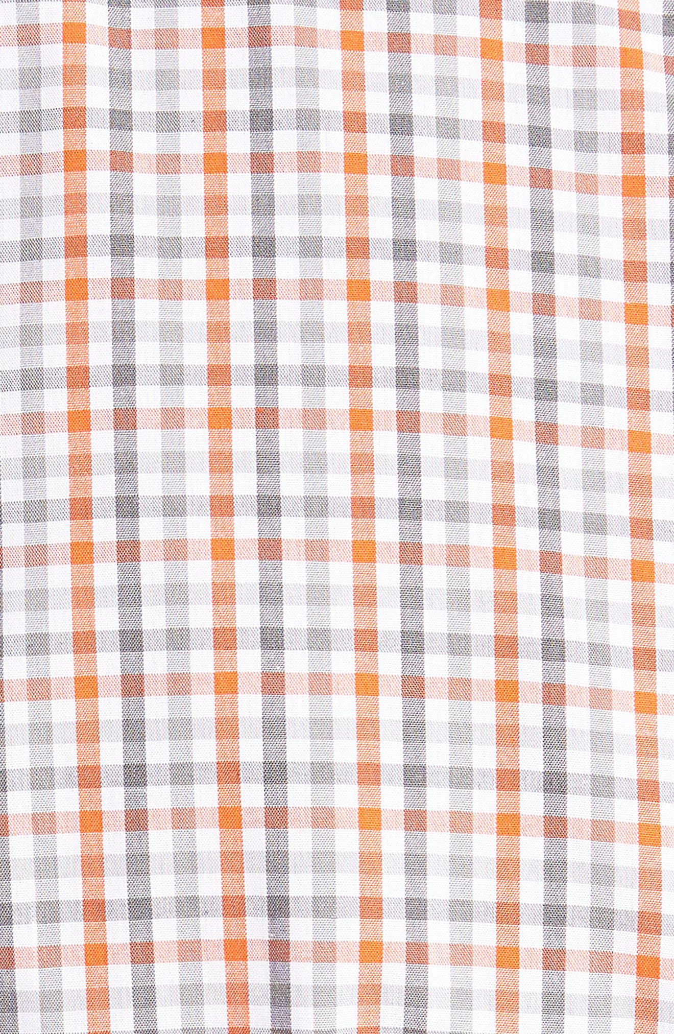 Cleveland Browns - Gilman Regular Fit Plaid Sport Shirt,                             Alternate thumbnail 5, color,                             COLLEGE ORANGE