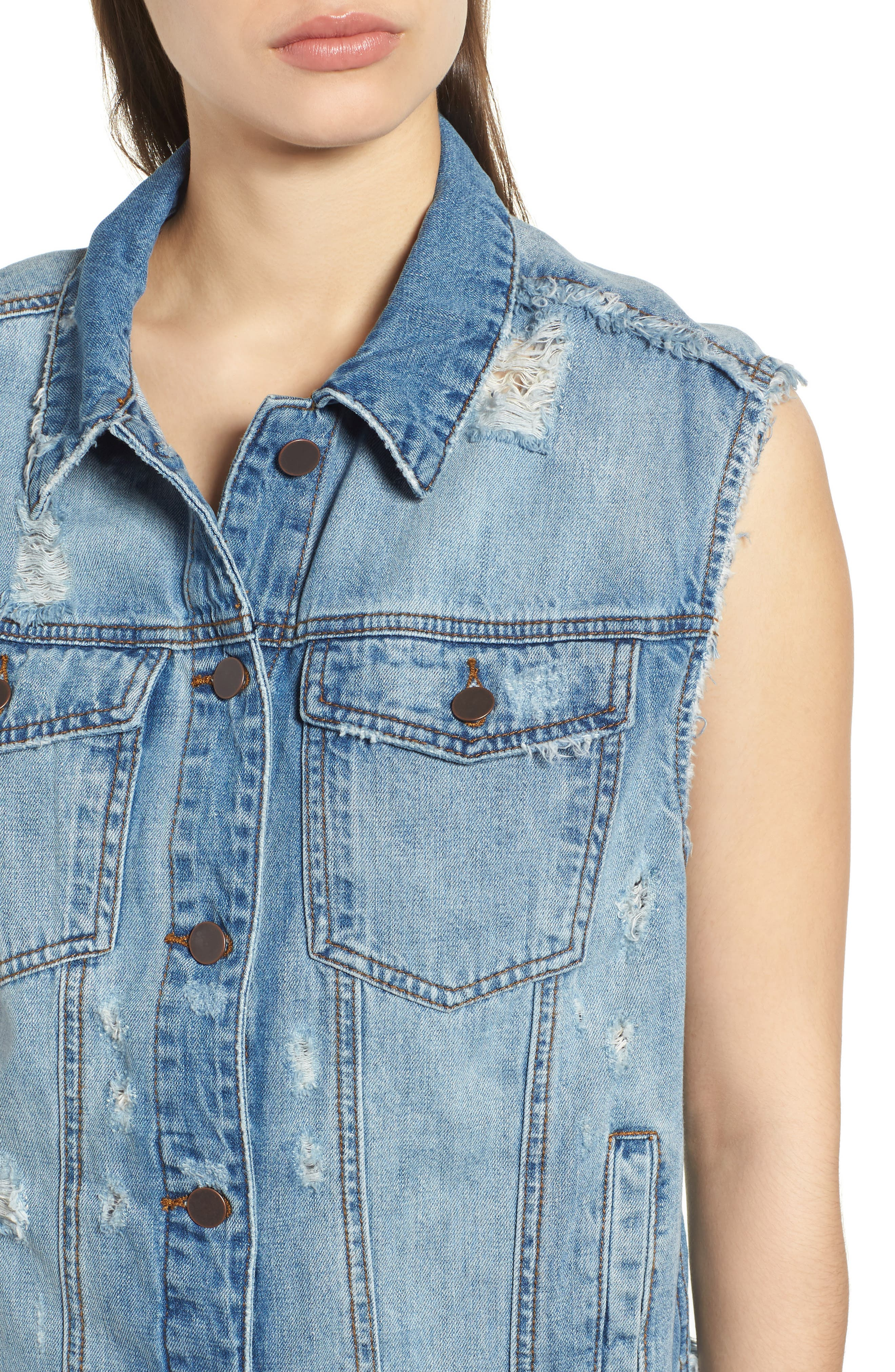 KUT from the Kloth Denim Vest,                             Alternate thumbnail 4, color,                             AUGMENTED