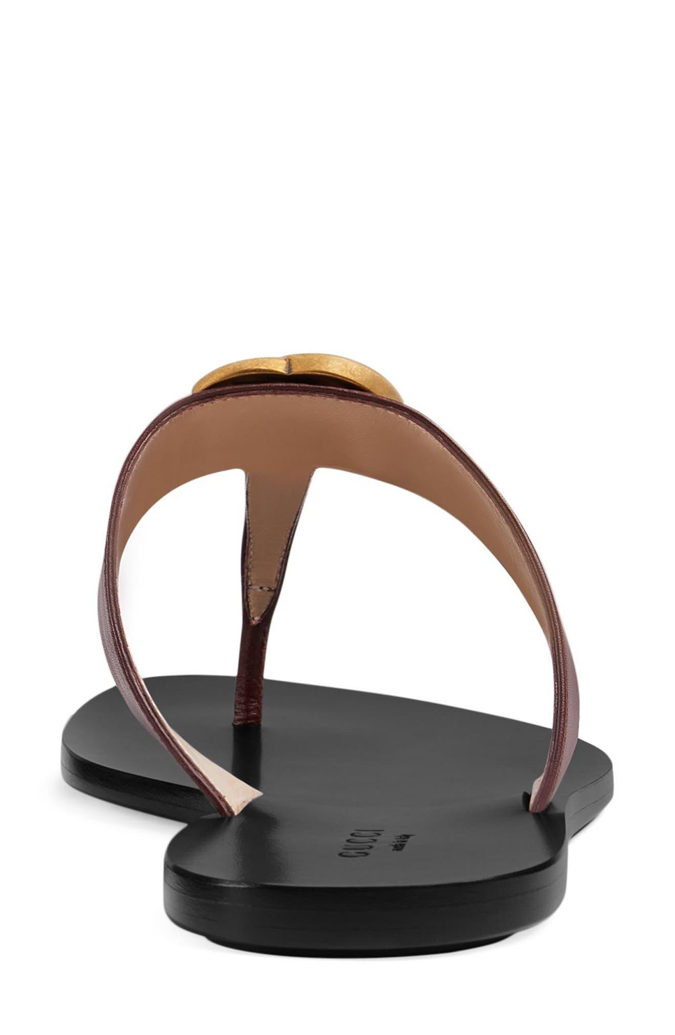 Marmont T-Strap Sandal,                             Alternate thumbnail 5, color,                             VINTAGE BORDEAUX