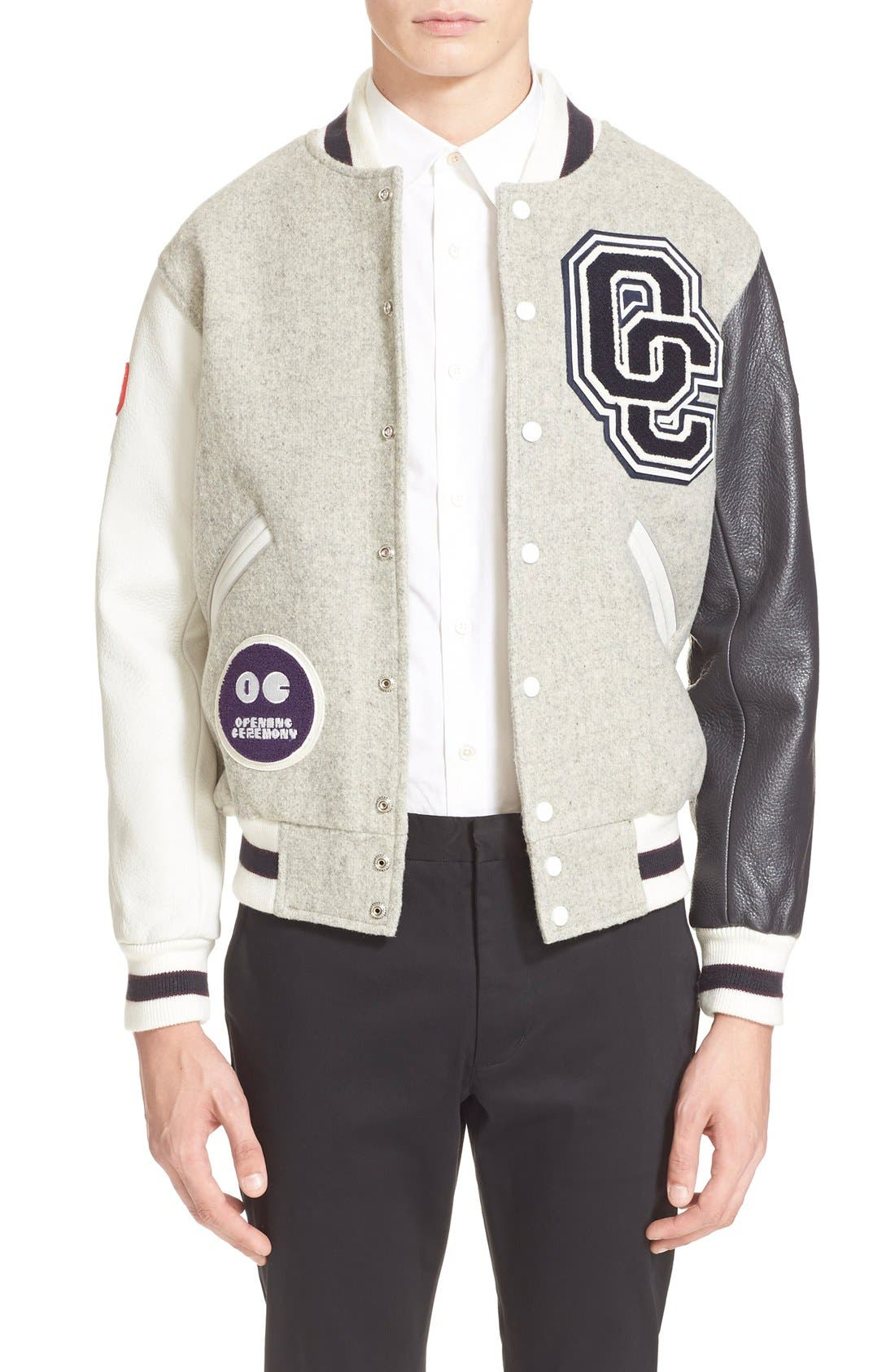 'OC Classic' Varsity Jacket,                             Main thumbnail 1, color,