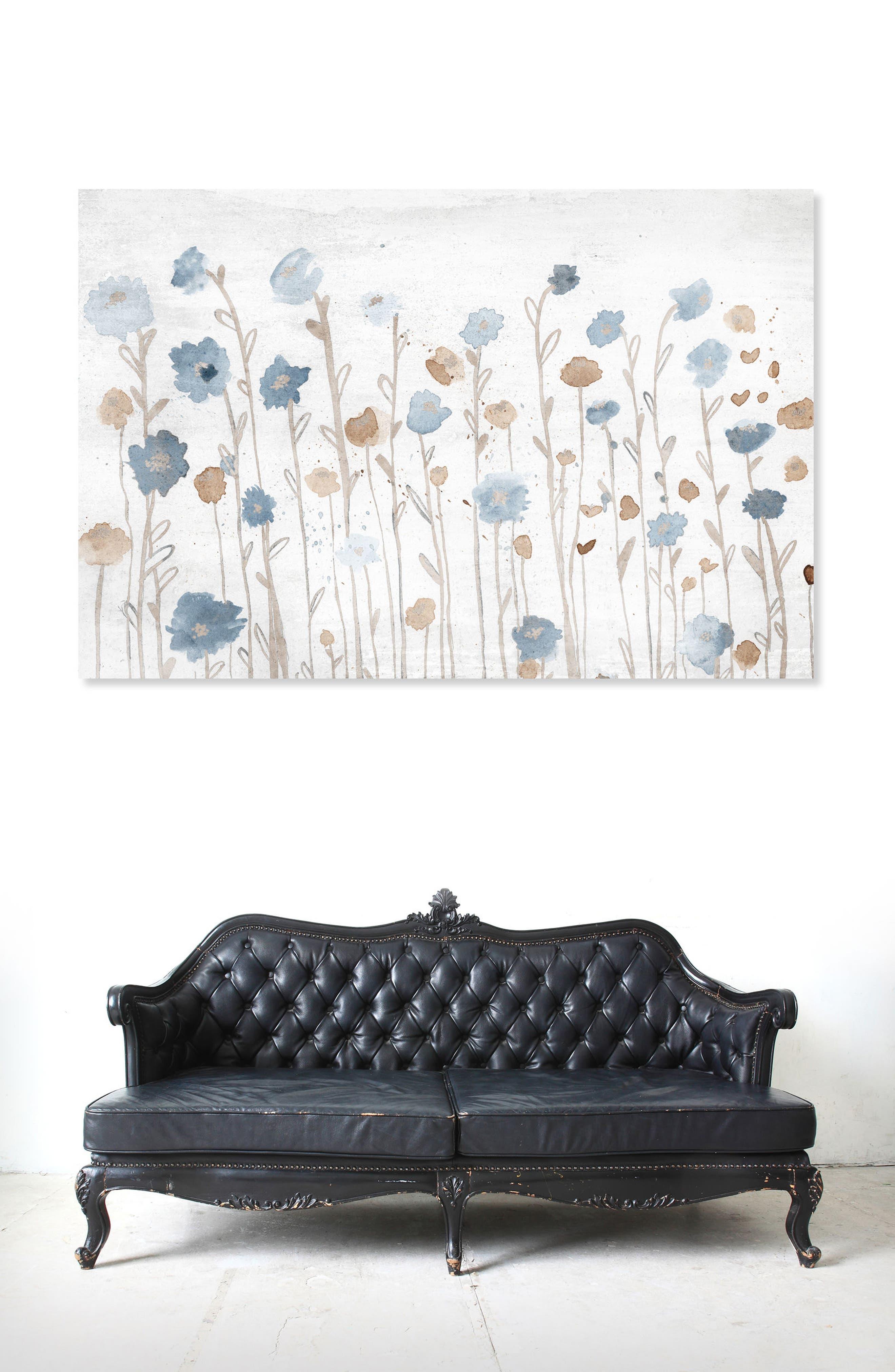 Beautiful Growth Light Blue Canvas Wall Art,                             Alternate thumbnail 2, color,                             WHITE